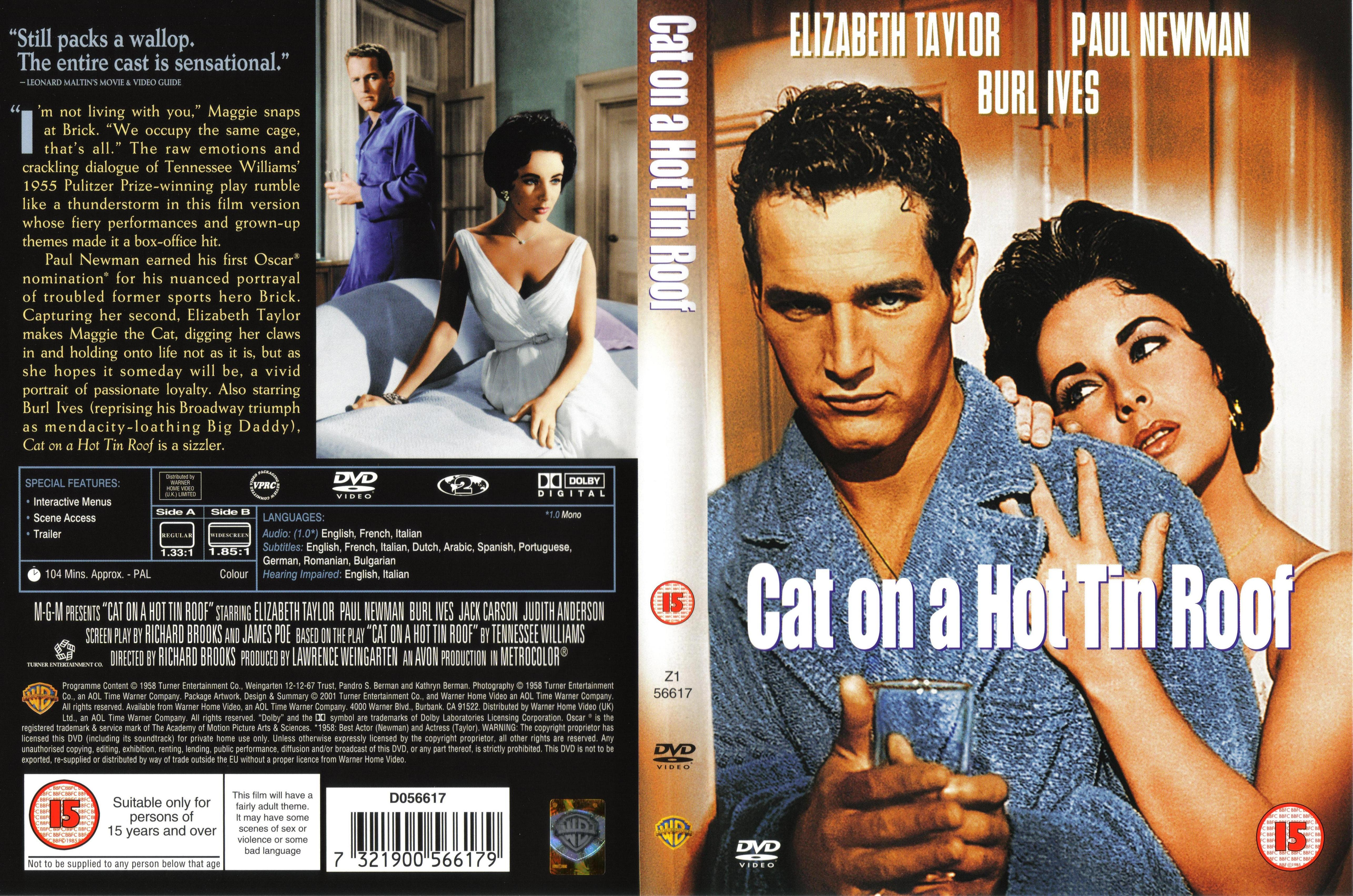Awesome Cat On A Hot Tin Roof (1958)   Front