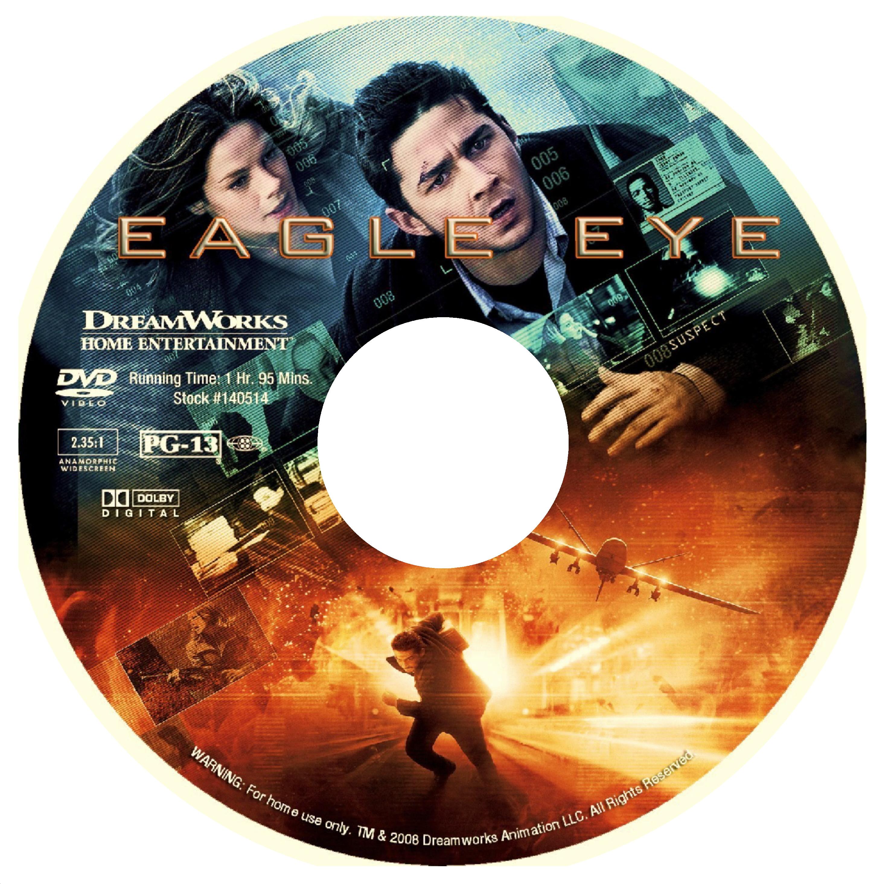 Covers Box Sk Eagle Eye 2008 High Quality Dvd Blueray Movie