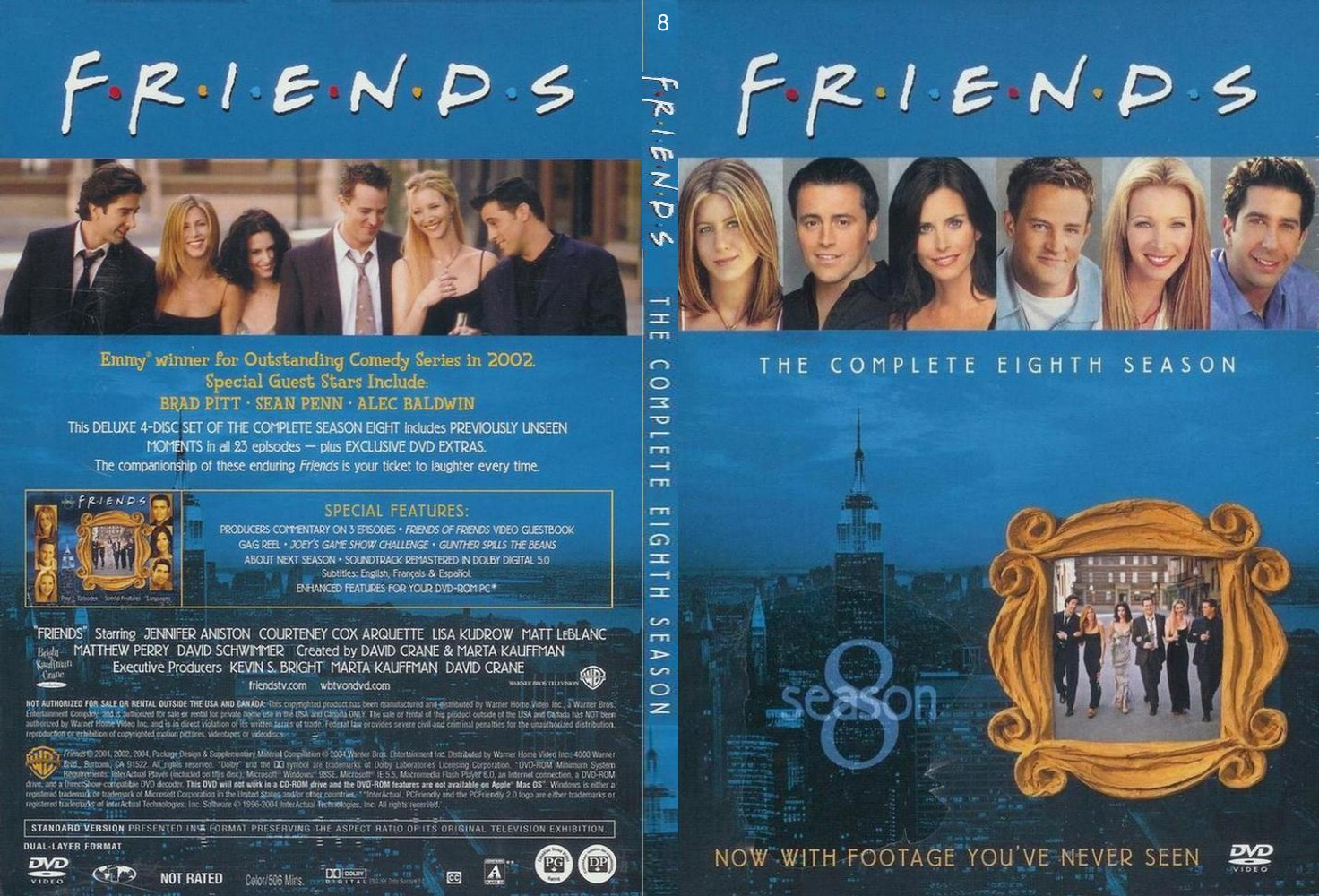 COVERS BOX SK ::: friends season 8: slimecase - high quality DVD