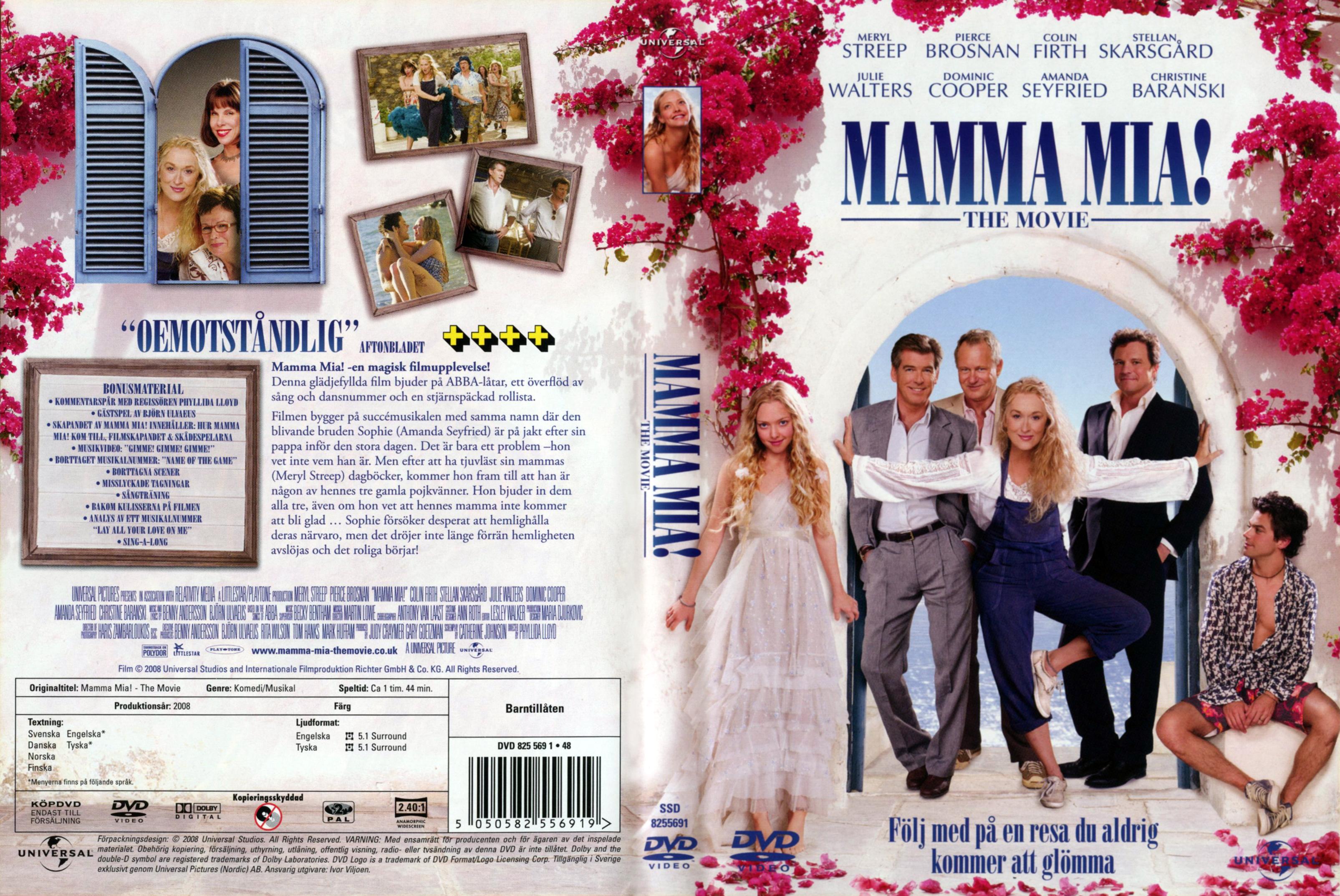 Mama mia dvd the movie