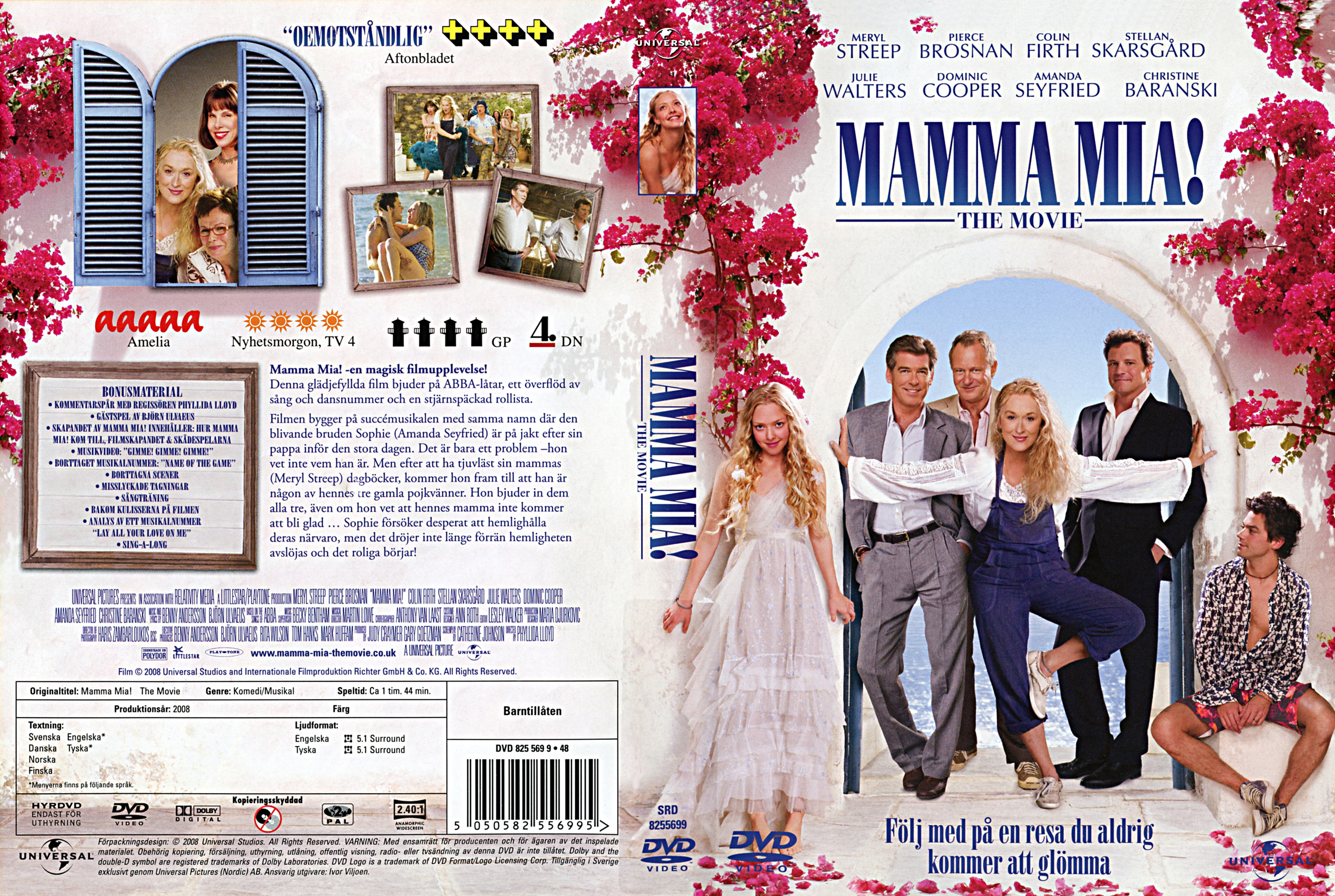 Mamma mia movie dvd