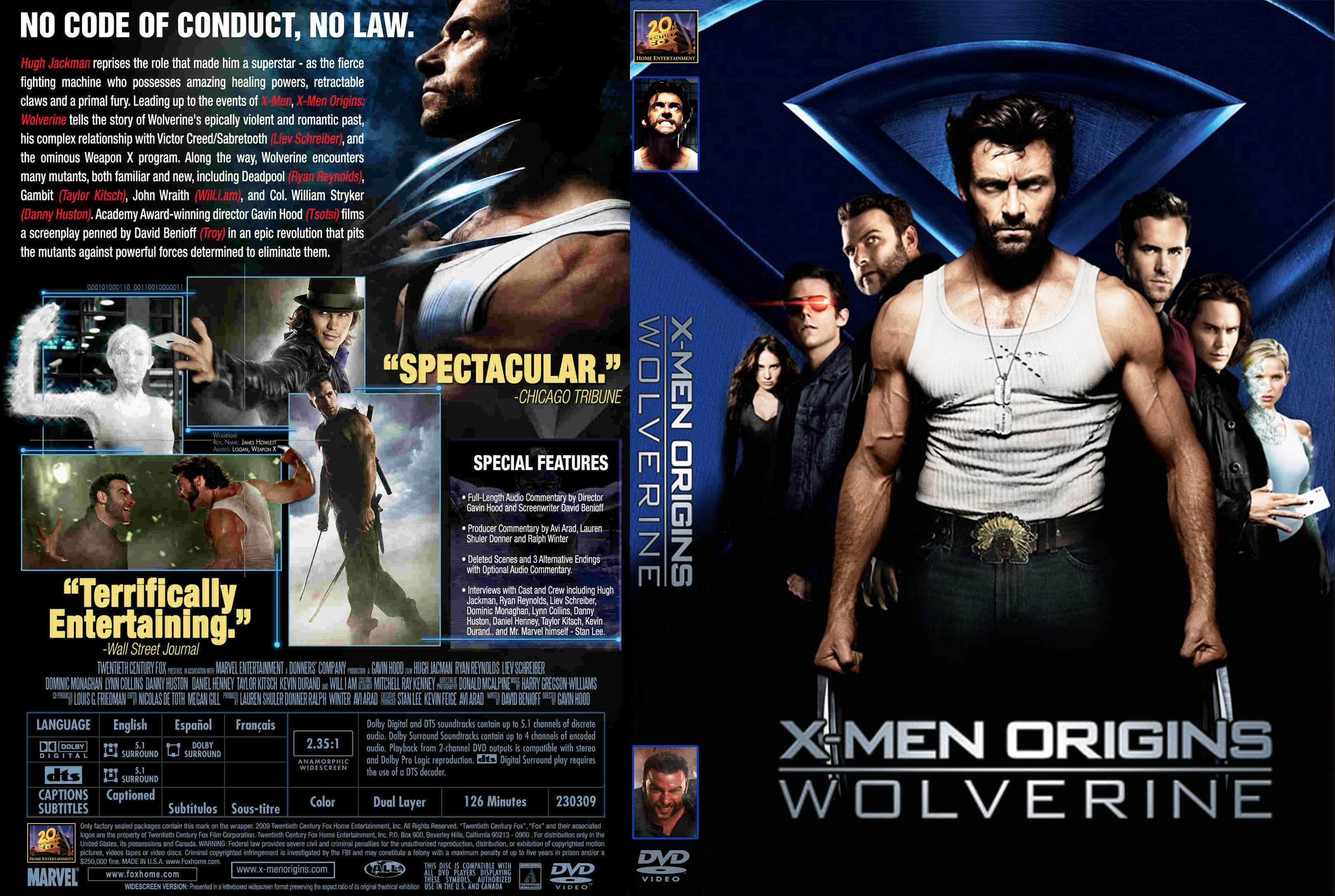X Men Dvd Cover: COVERS.BOX.SK ::: X-Men Origins Wolverine (2009)