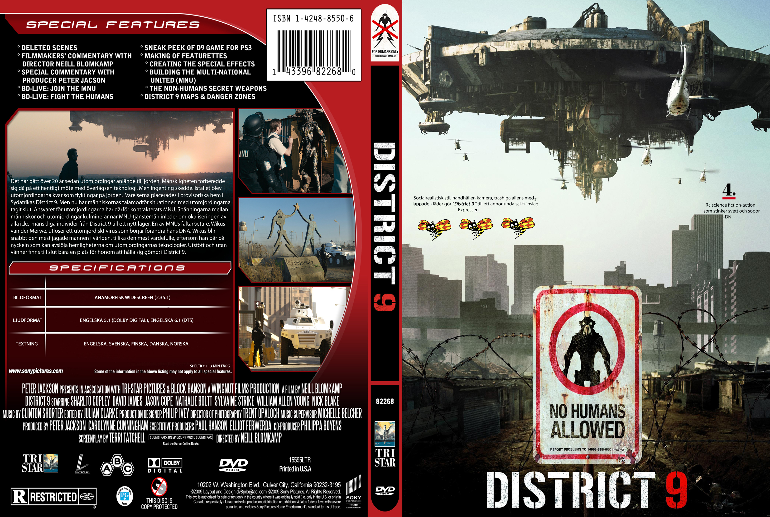Covers Box Sk District 9 2009 High Quality Dvd Blueray Movie