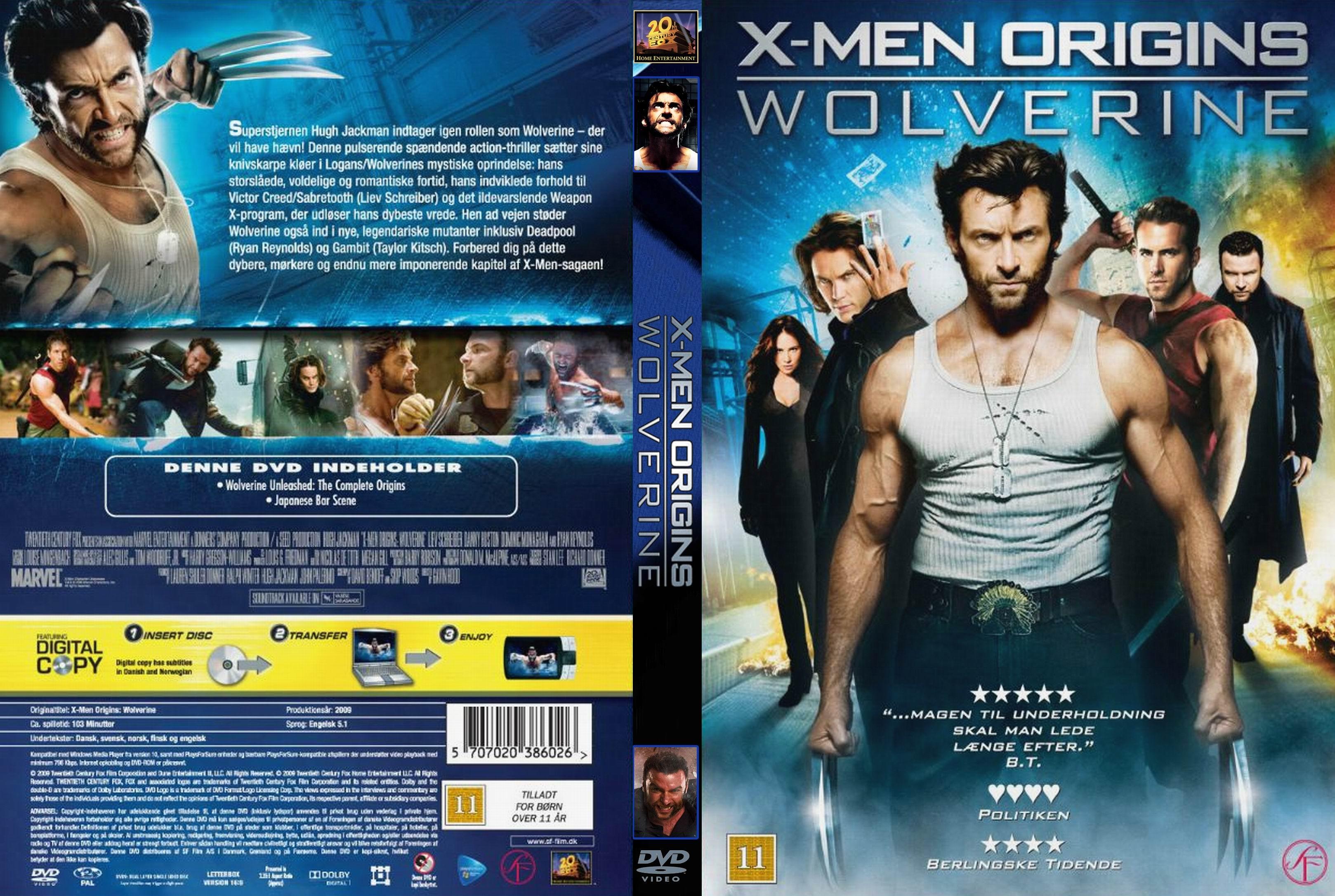 X Men Dvd Cover: COVERS.BOX.SK ::: X-men Origins Wolverine