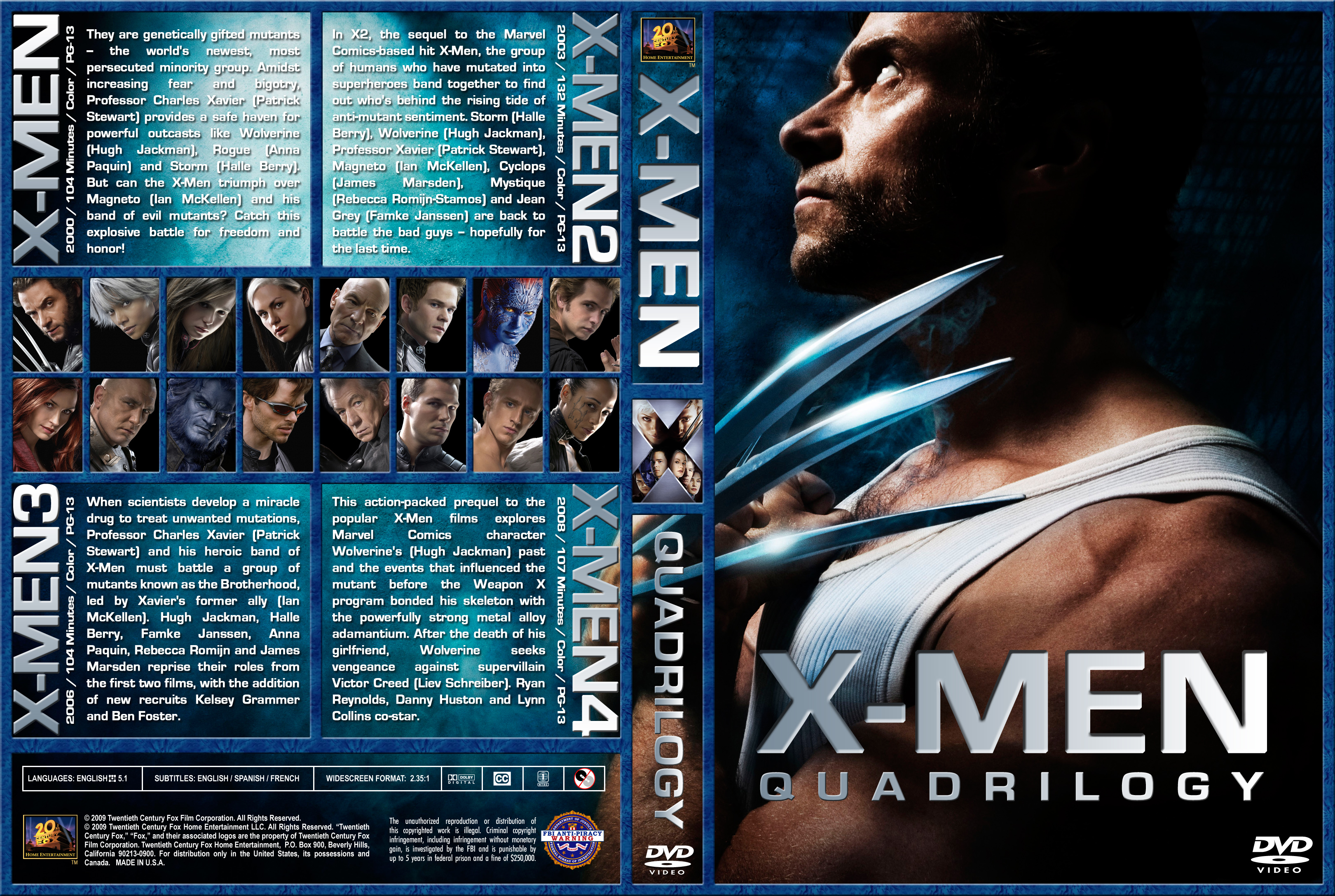 X Men Dvd Cover: COVERS.BOX.SK ::: X-Men Quadrilogy