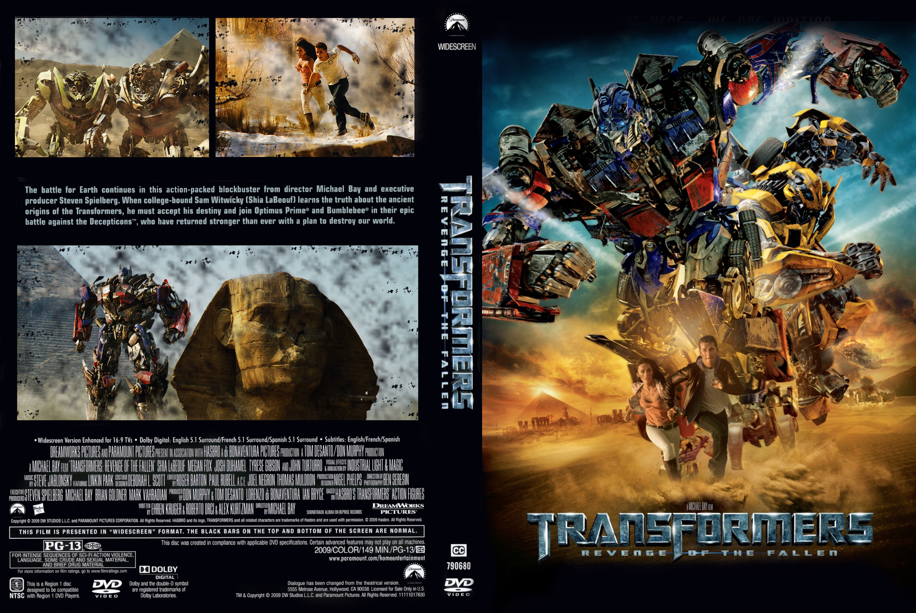 Covers Box Sk Transformers Revenge Of The Fallen 2009 High Quality Dvd Blueray Movie