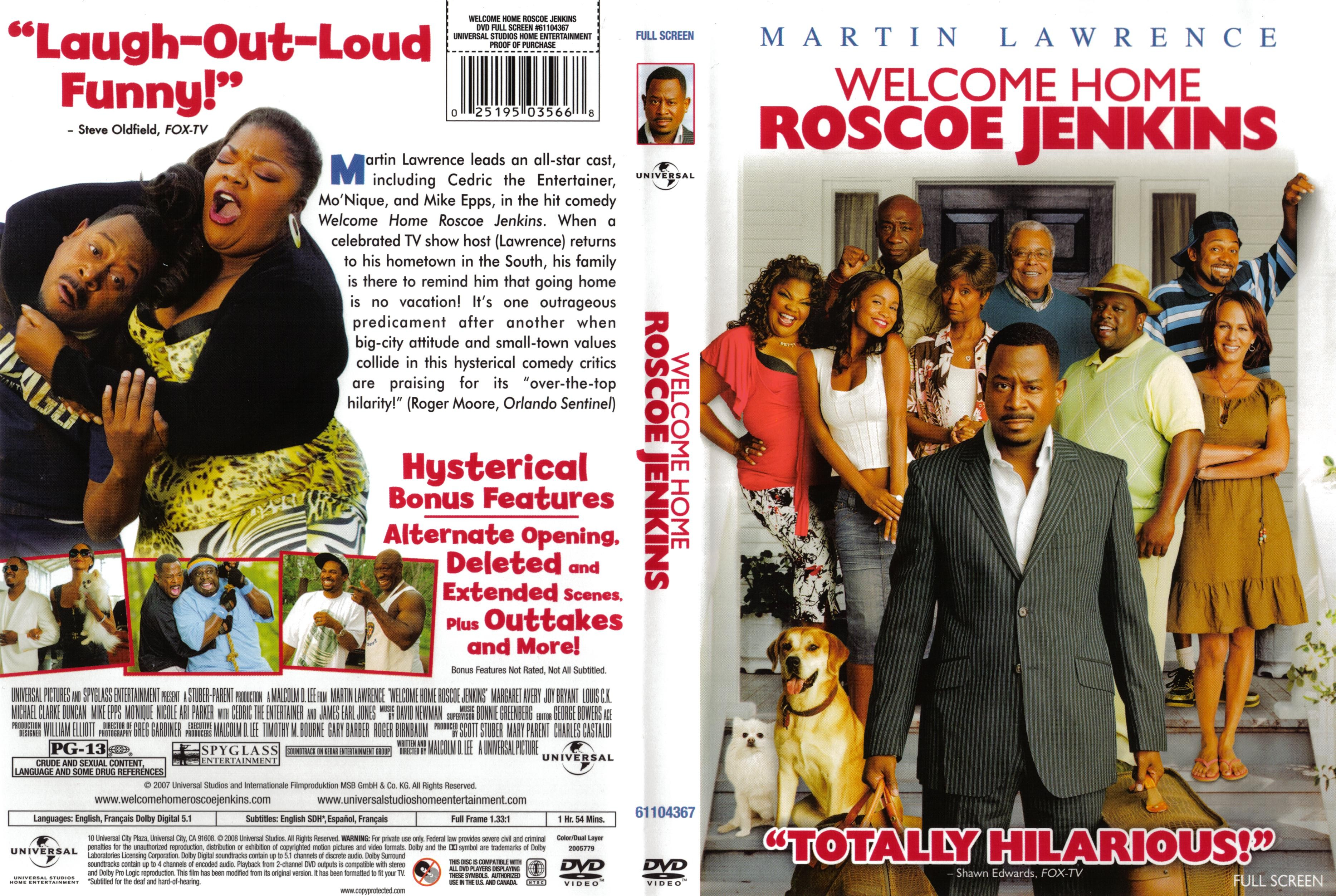 Covers Box Sk Welcome Home Roscoe Jenkins 2008 High Quality