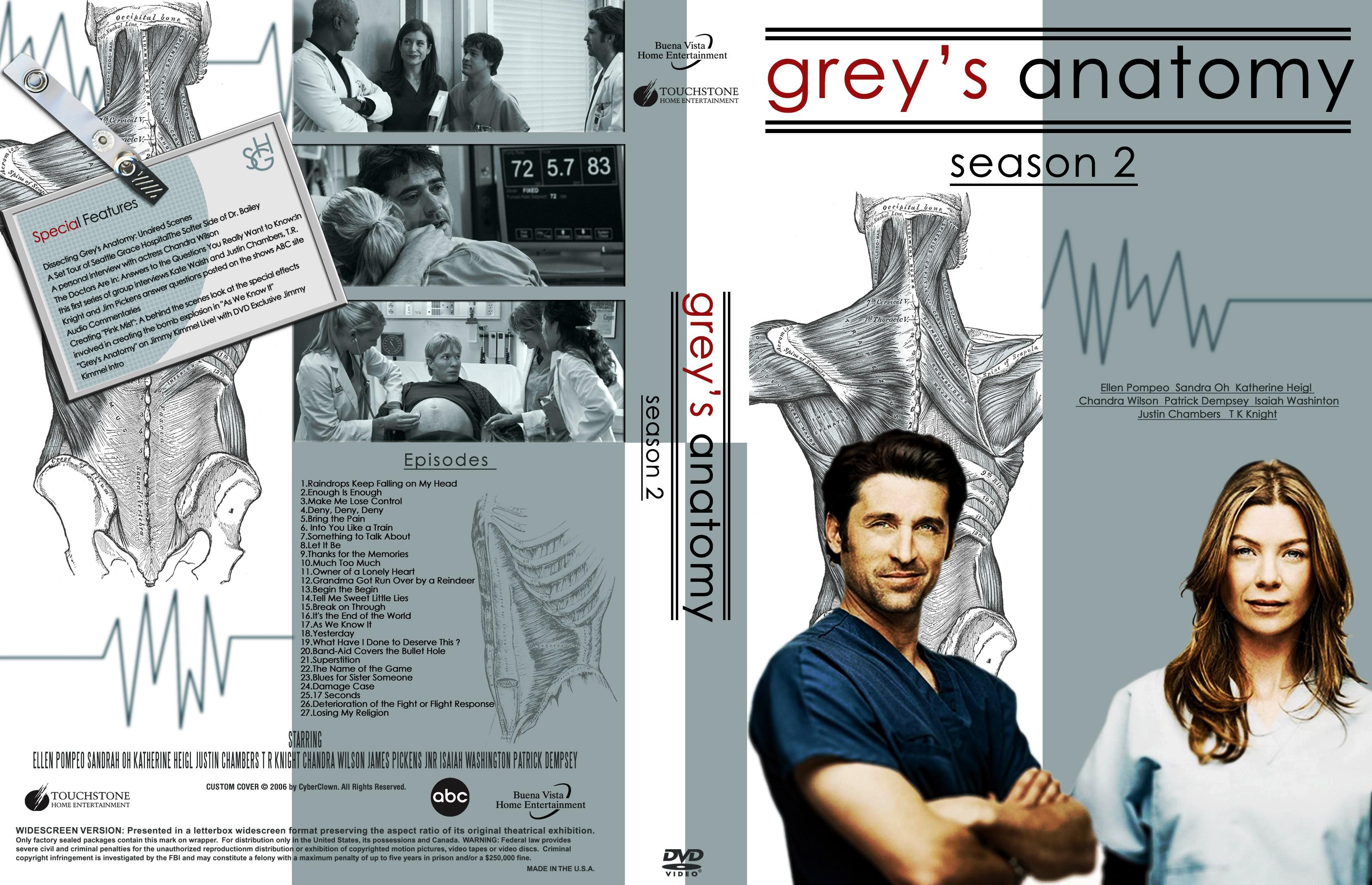 COVERS.BOX.SK ::: Greys Anatomy Season 2 - high quality DVD ...