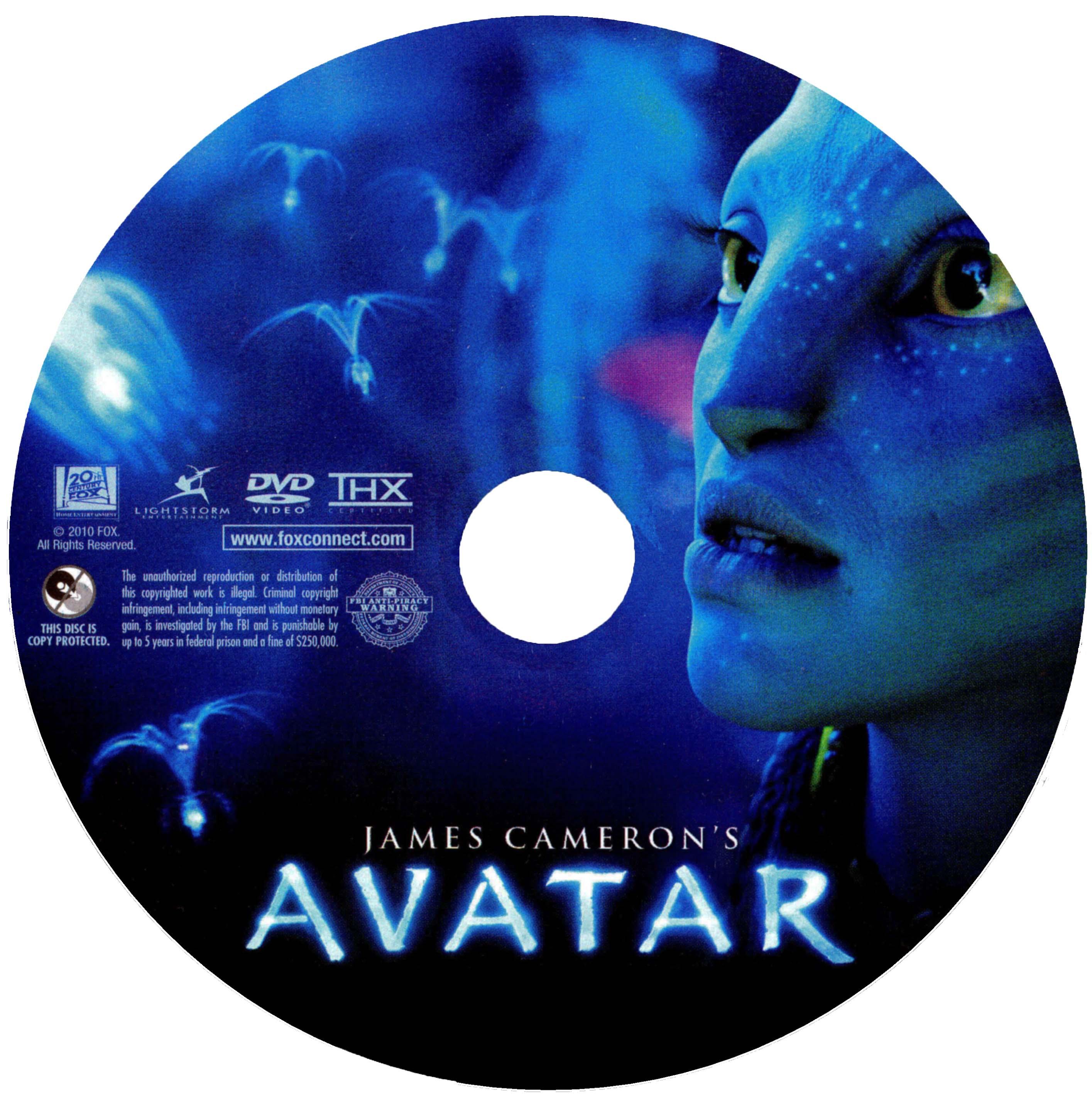 Avatar 2 On Dvd: COVERS.BOX.SK ::: Avatar (2009) Disk
