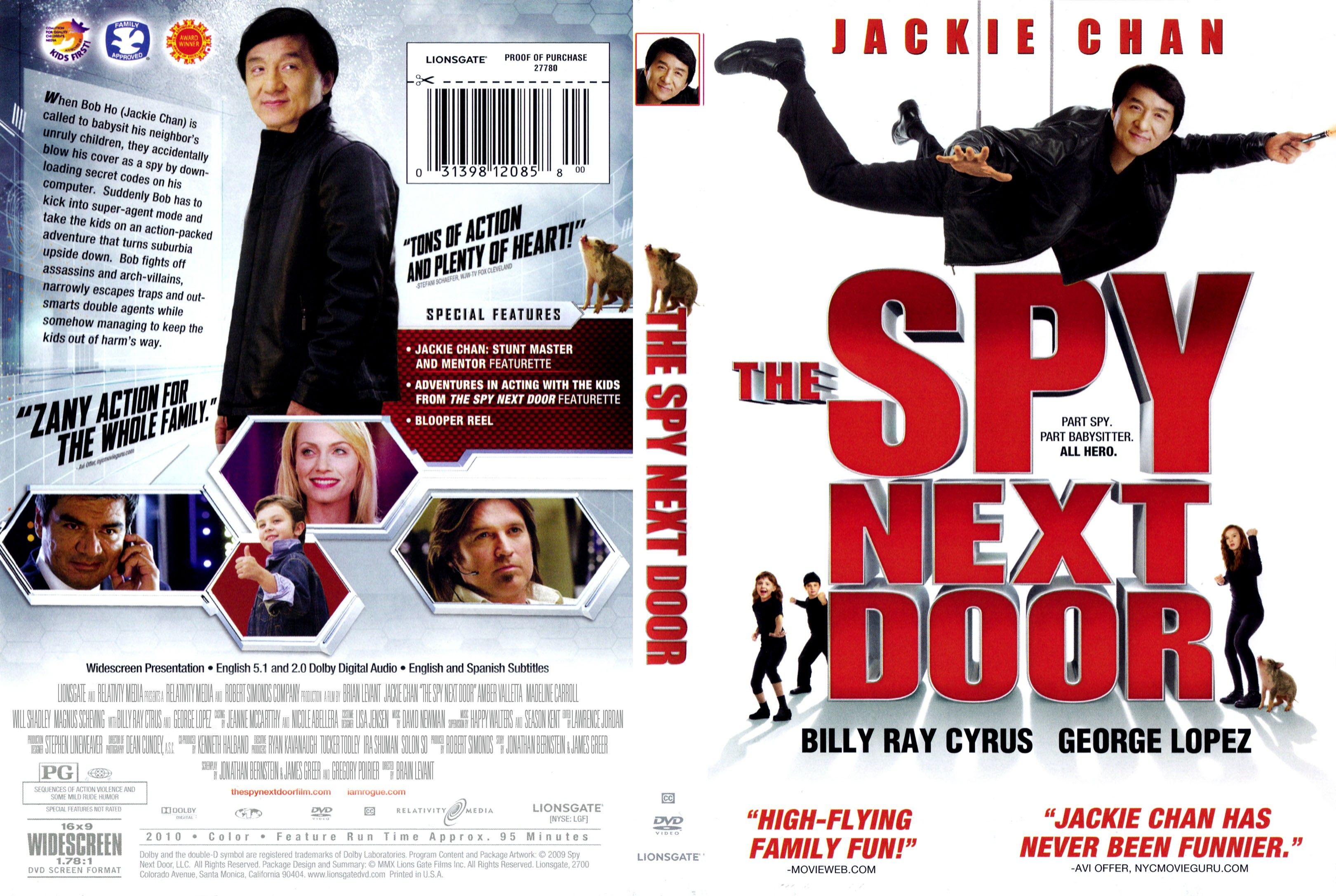 COVERS BOX SK The Spy Next Door 2010 high quality DVD