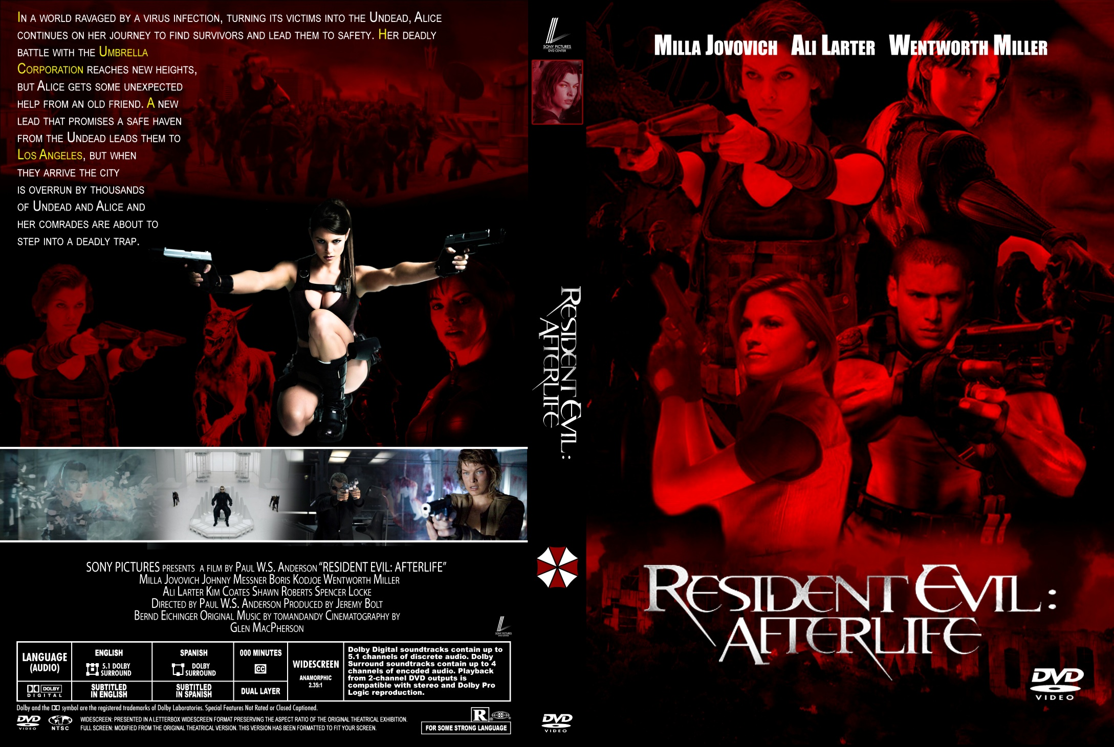 Covers Box Sk Resident Evil Afterlife 2010 High Quality Dvd Blueray Movie