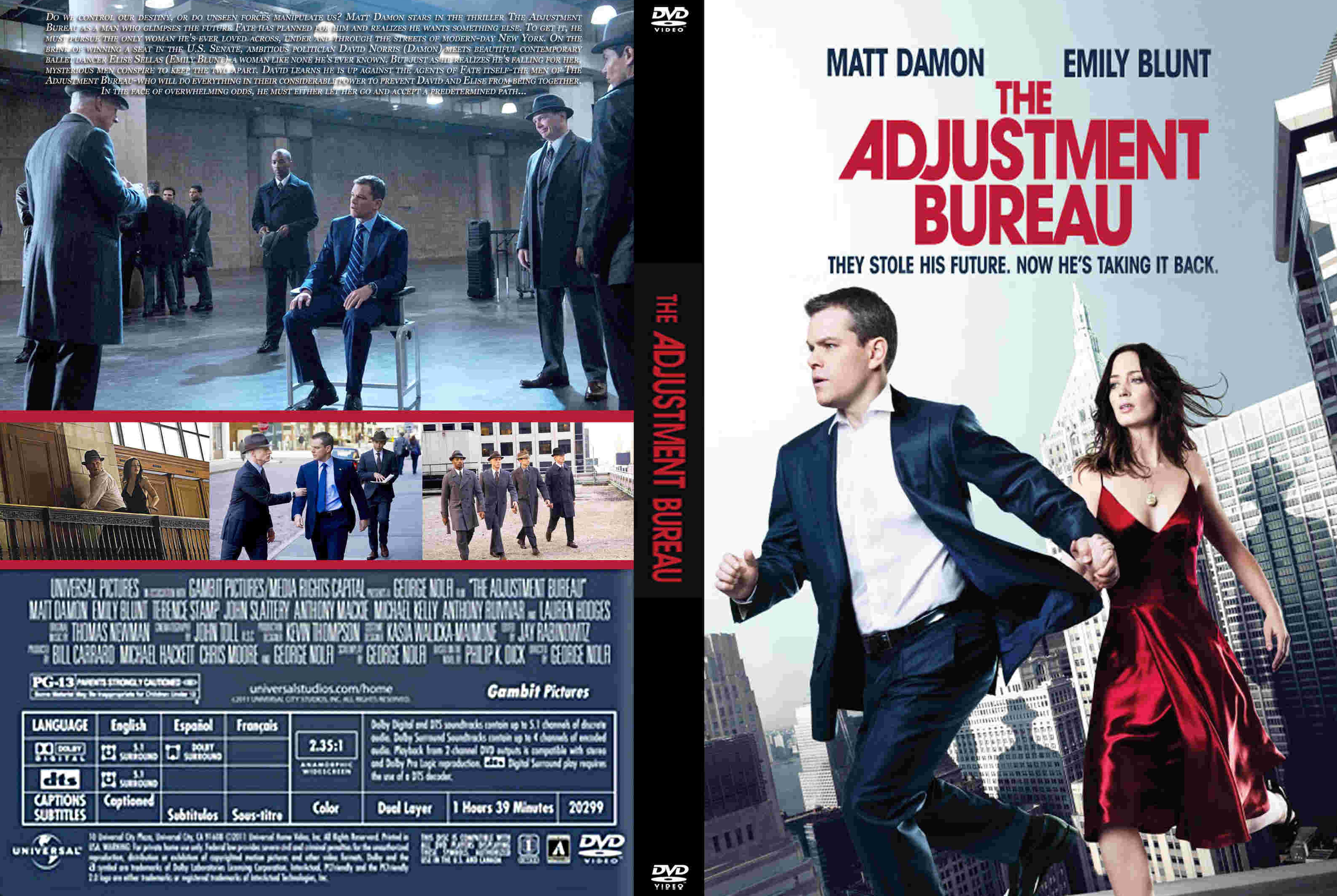 Covers box sk the adjustment bureau 2011 high for Bureau movie