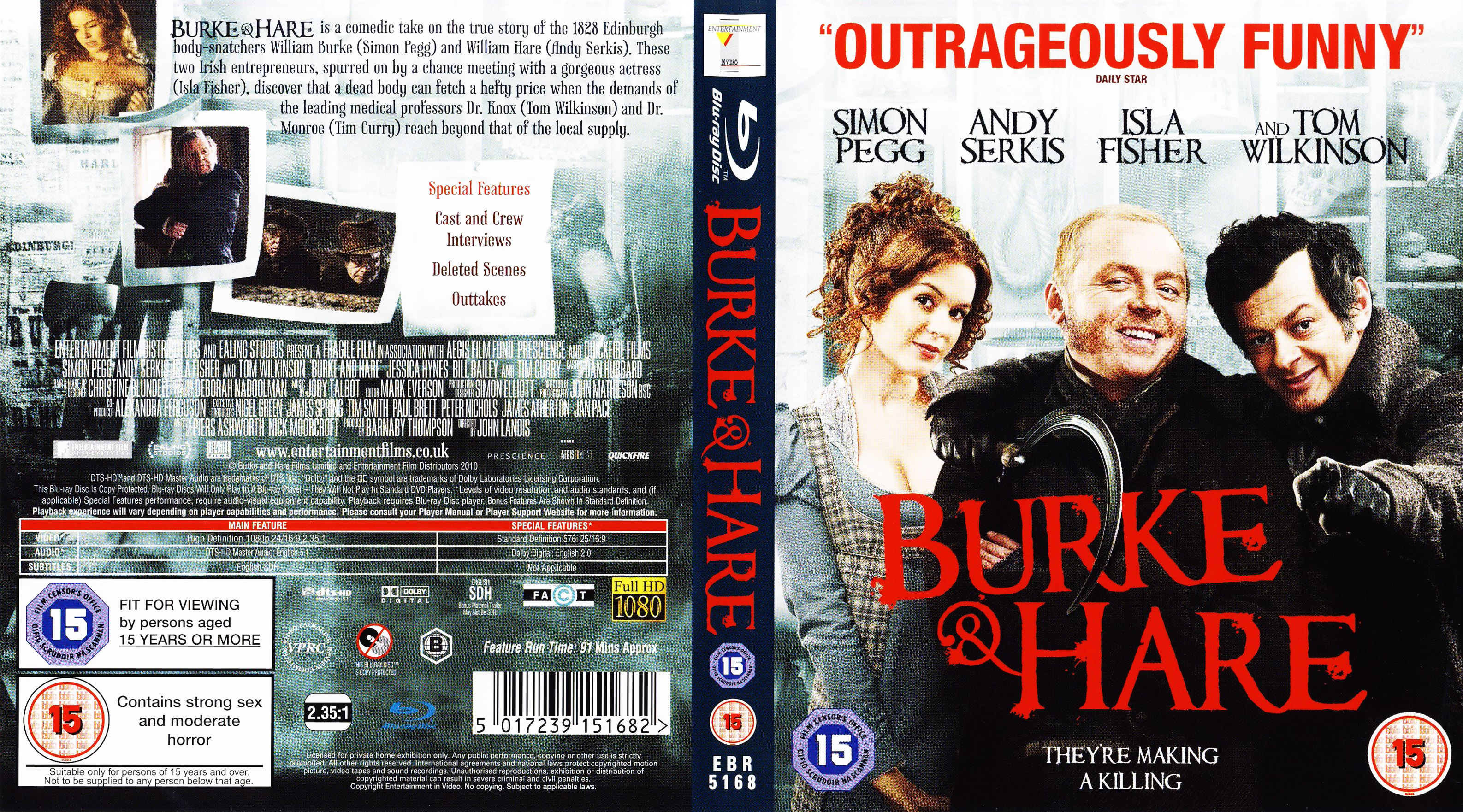 Covers Box Sk Burke And Hare 2010 High Quality Dvd
