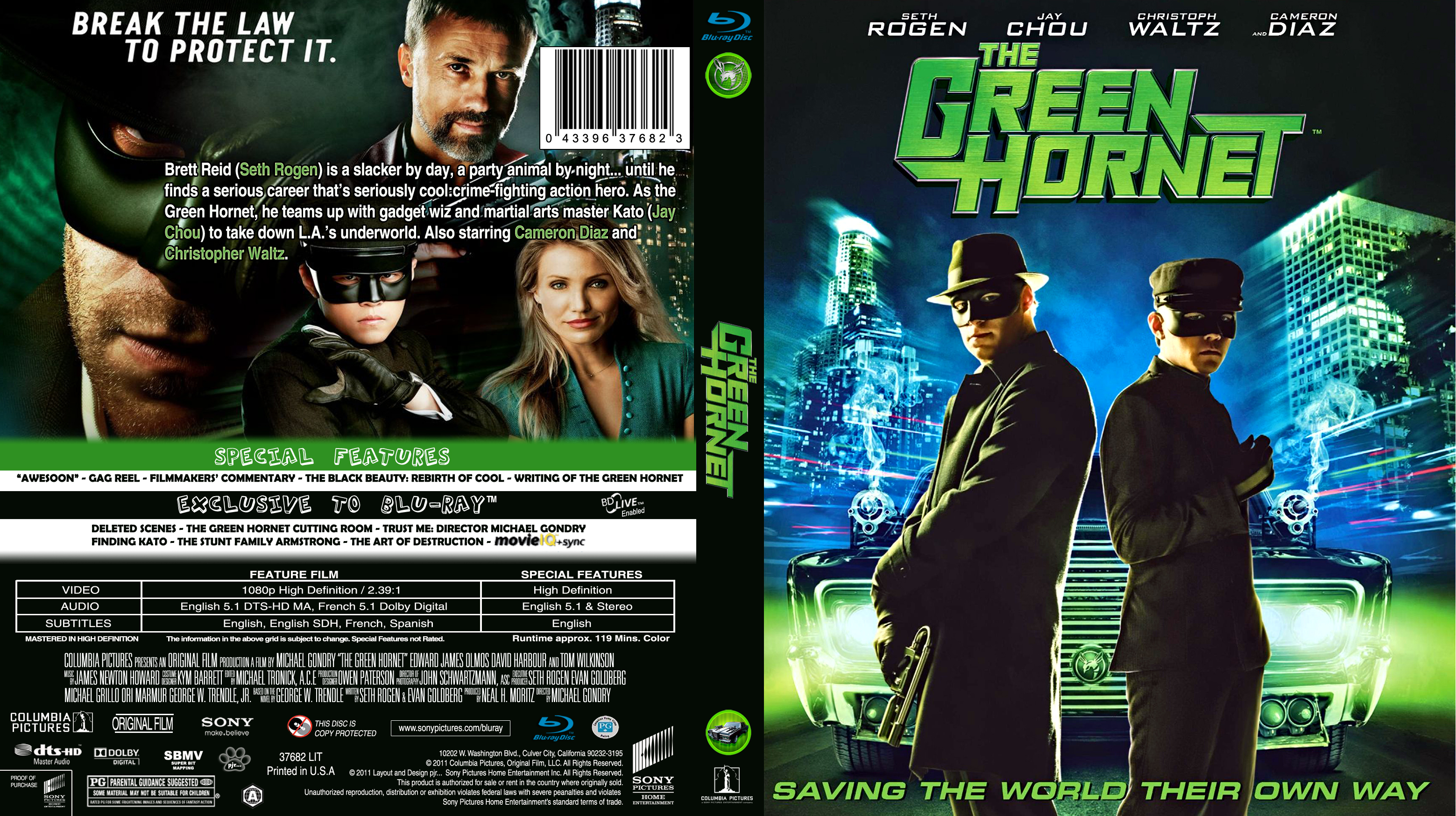 COVERS BOX SK ::: the green hornet (2011) - high quality DVD