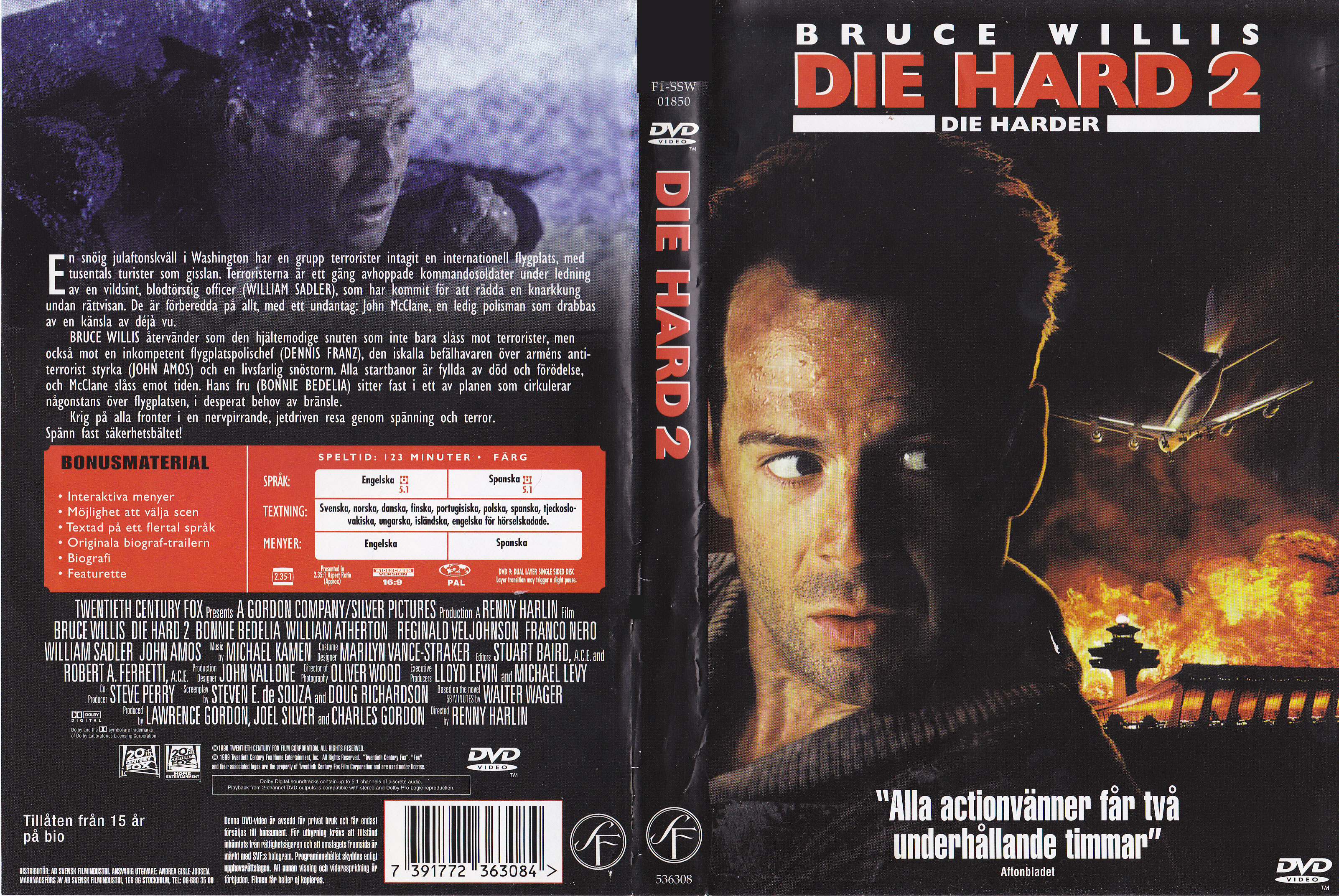 Covers Box Sk Die Hard 2 1990 High Quality Dvd Blueray Movie