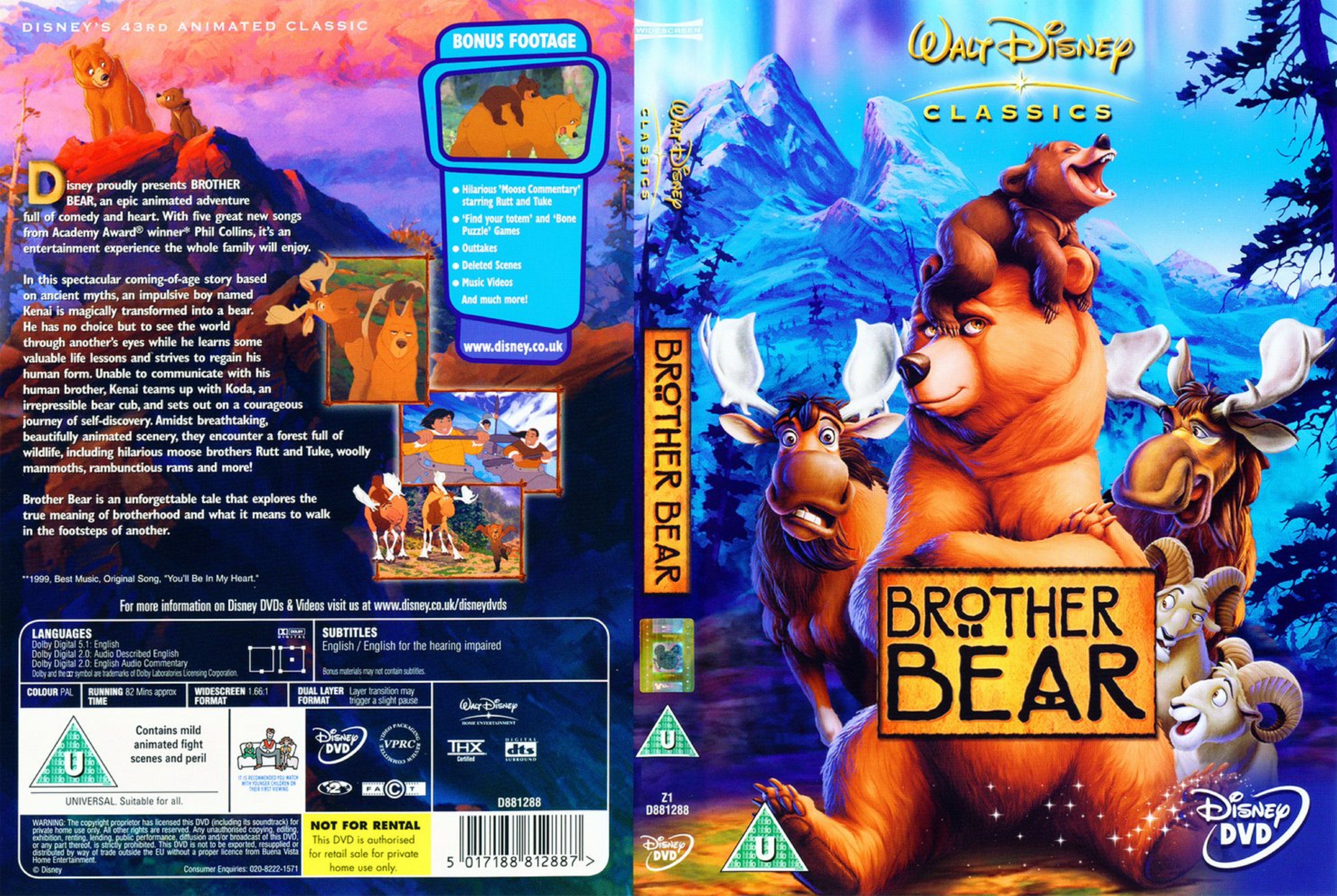 Covers Box Sk Brother Bear 2003 High Quality Dvd Blueray
