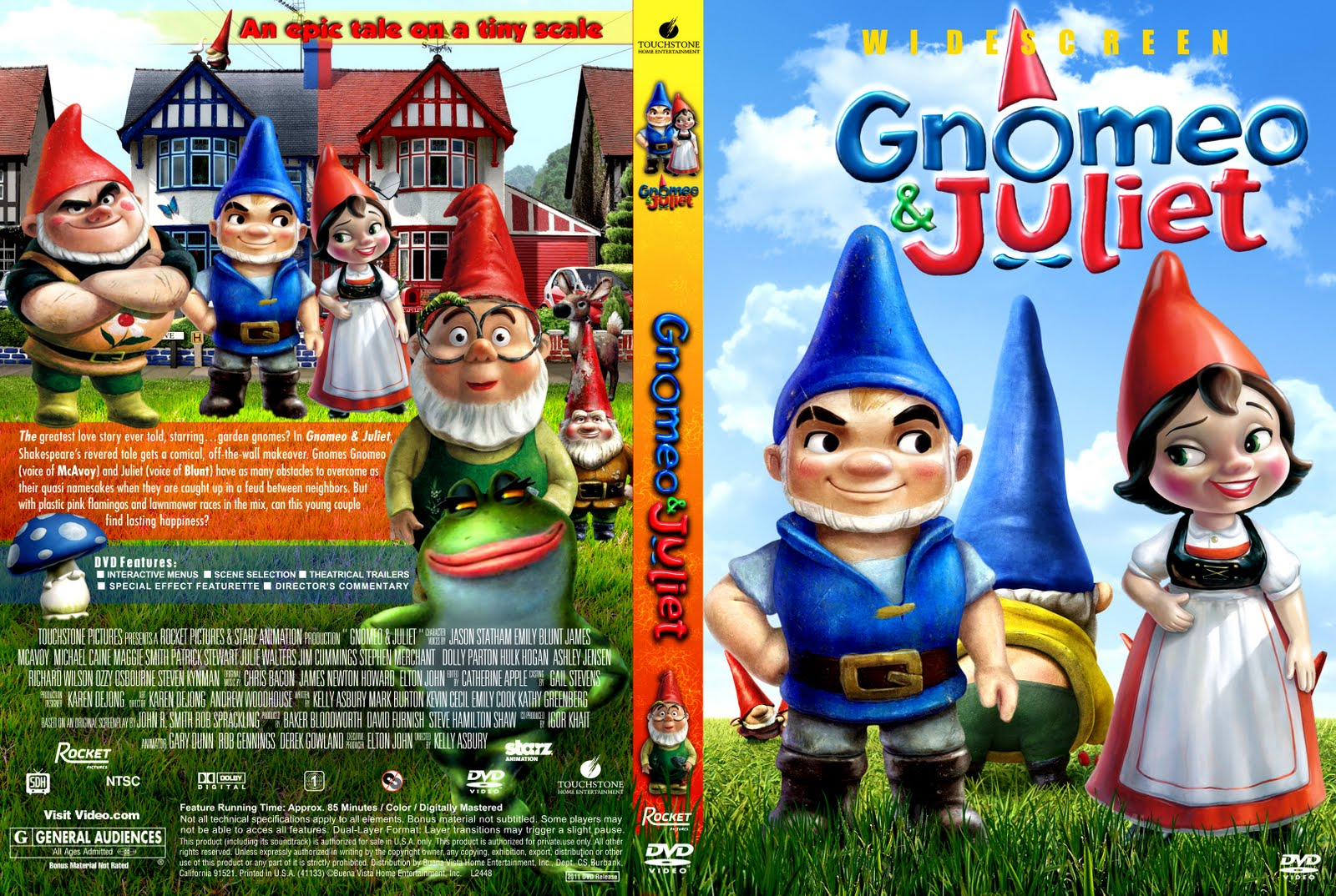 Covers Box Sk Gnomeo And Juliet 2011 High Quality Dvd Blueray Movie