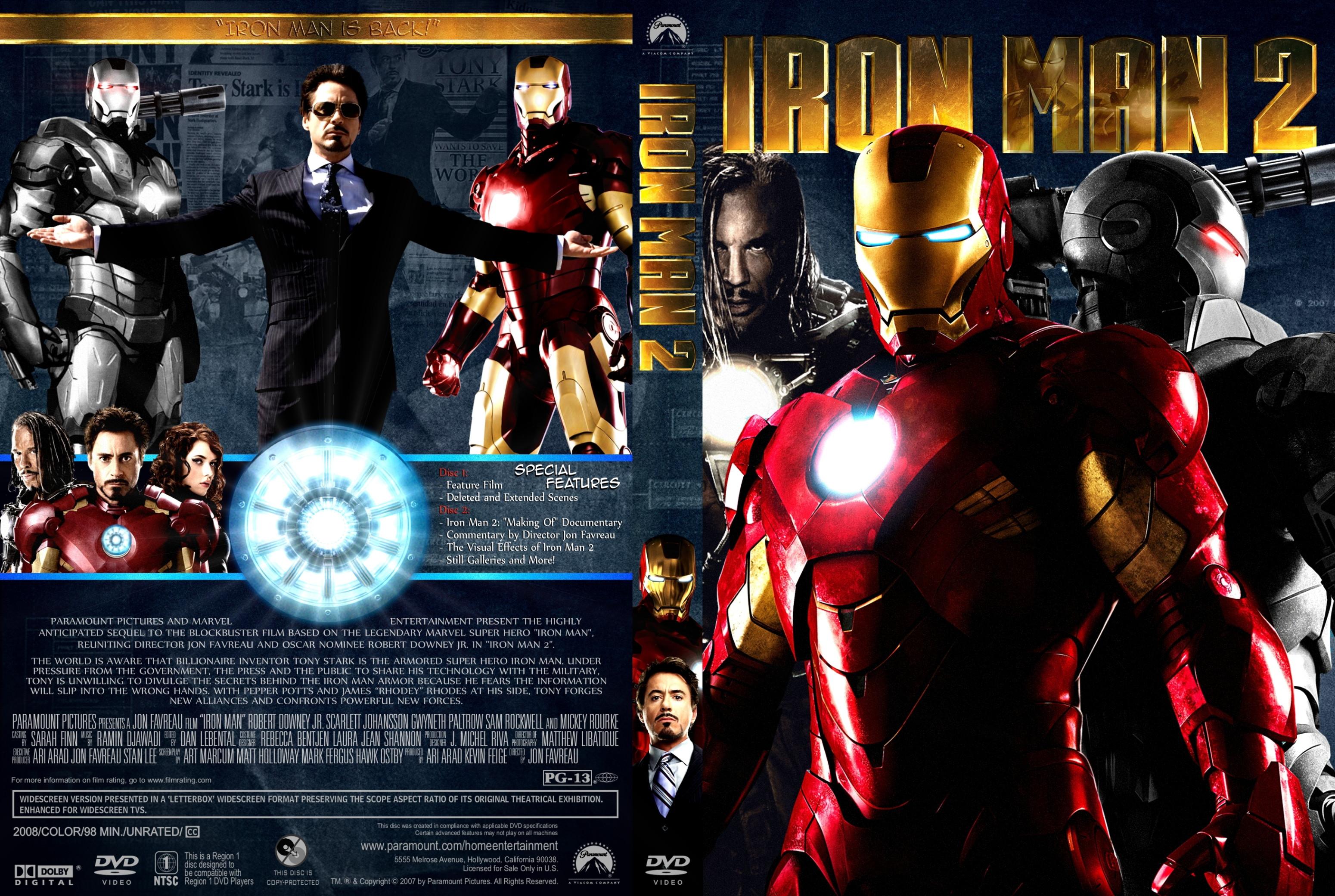 Covers Box Sk Iron Man 2 2010 High Quality Dvd