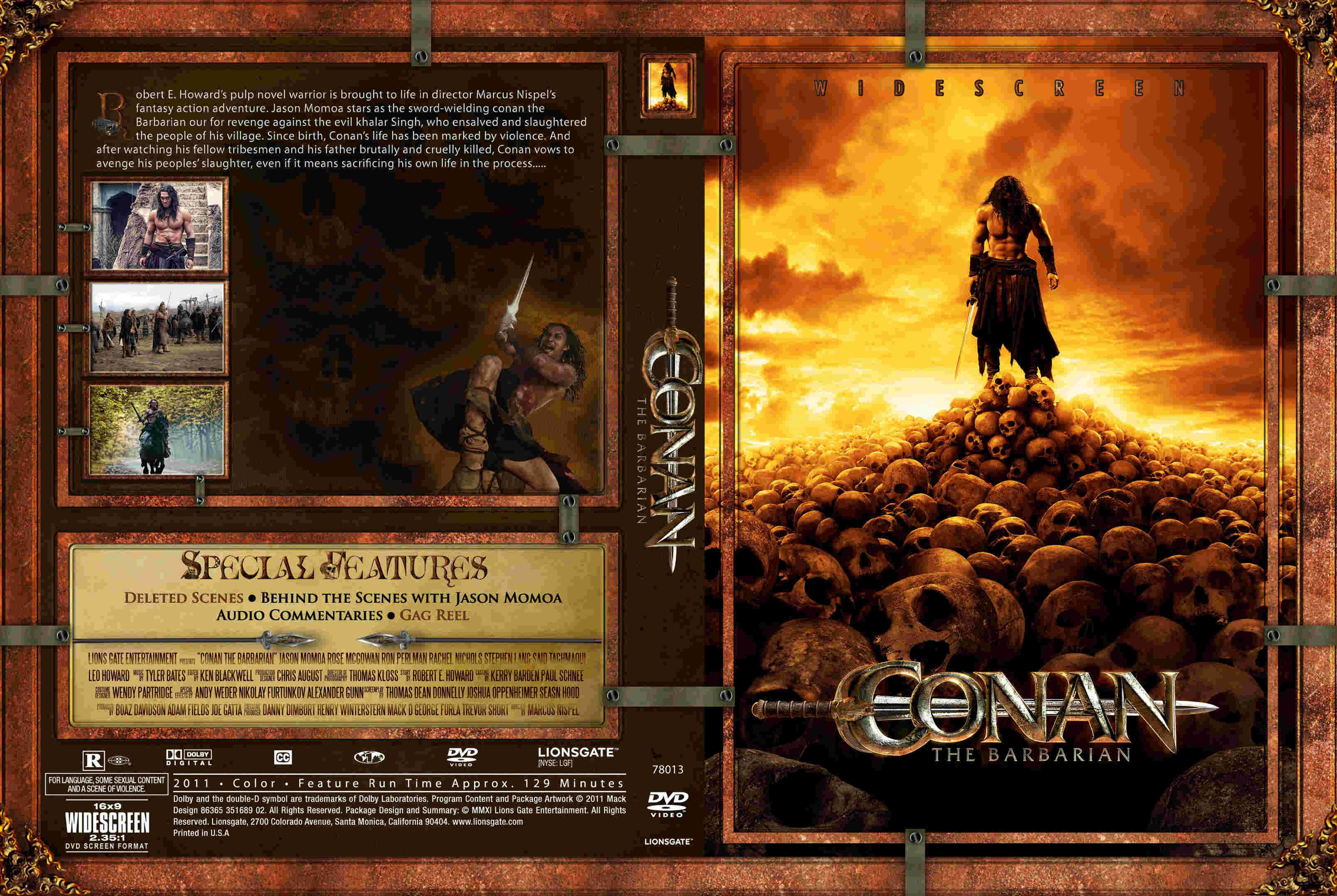 COVERS BOX SK ::: conan the barbarian (2011) - high quality