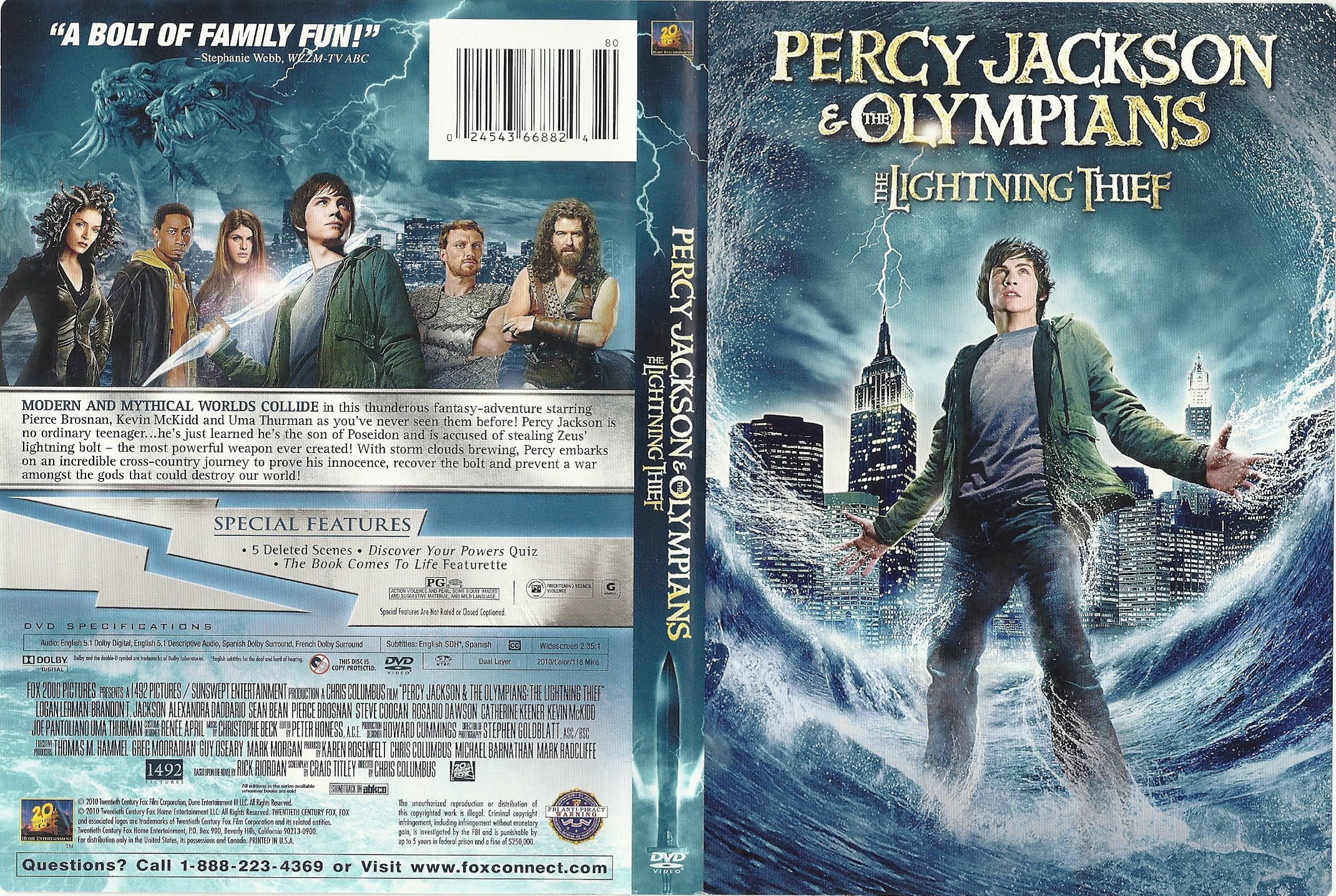 COVERS BOX SK Percy Jackson And The Lightning Thief 2010 High Quality