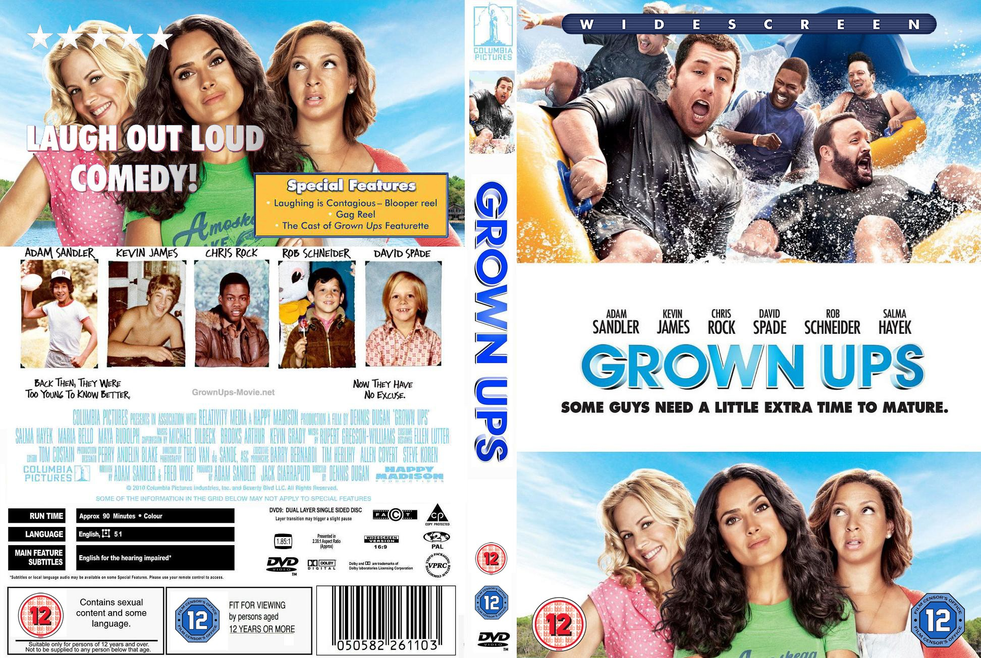 Covers Box Sk Grown Ups 2010 High Quality Dvd Blueray Movie