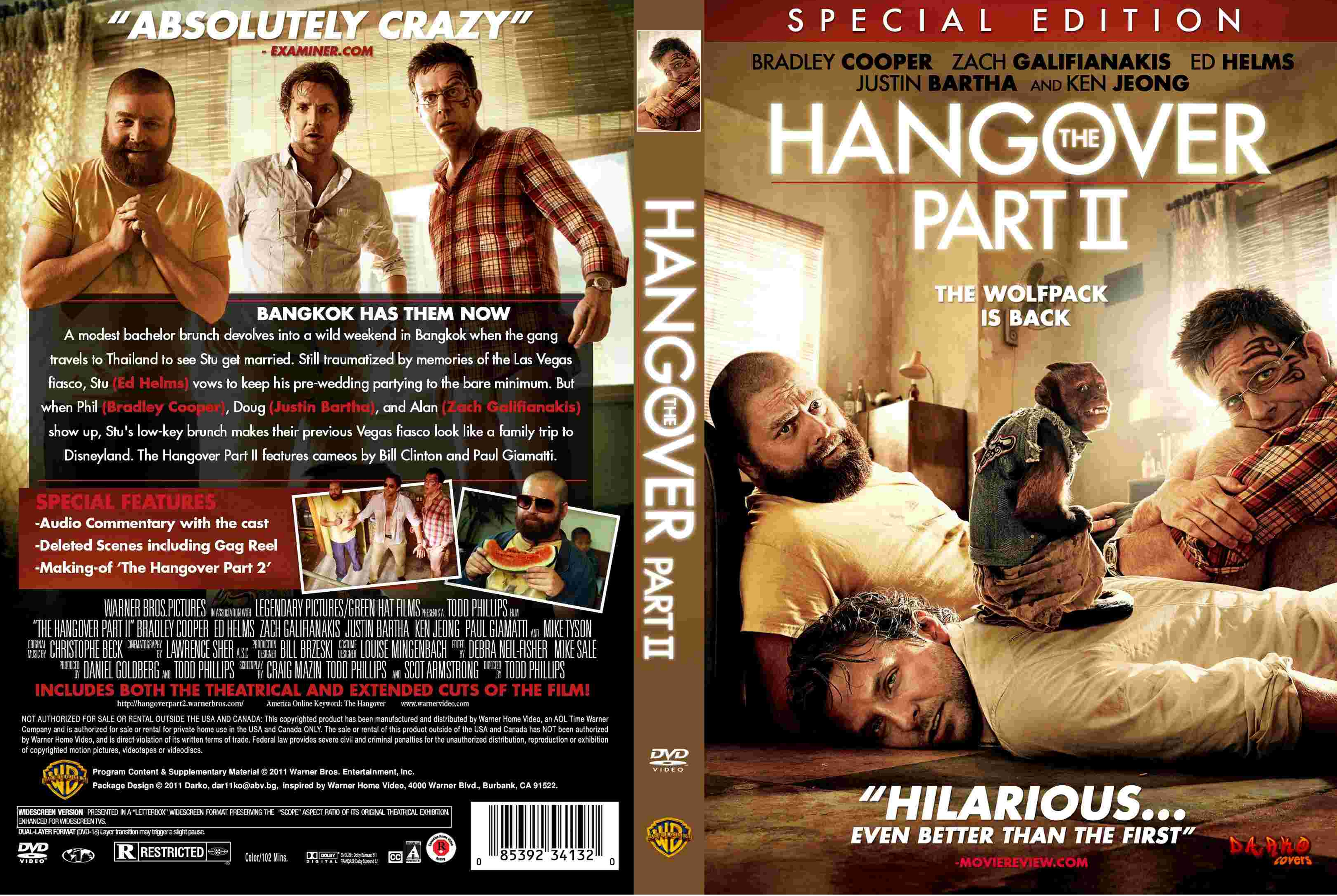 Covers Box Sk The Hangover Part 2 2011 High Quality Dvd Blueray Movie