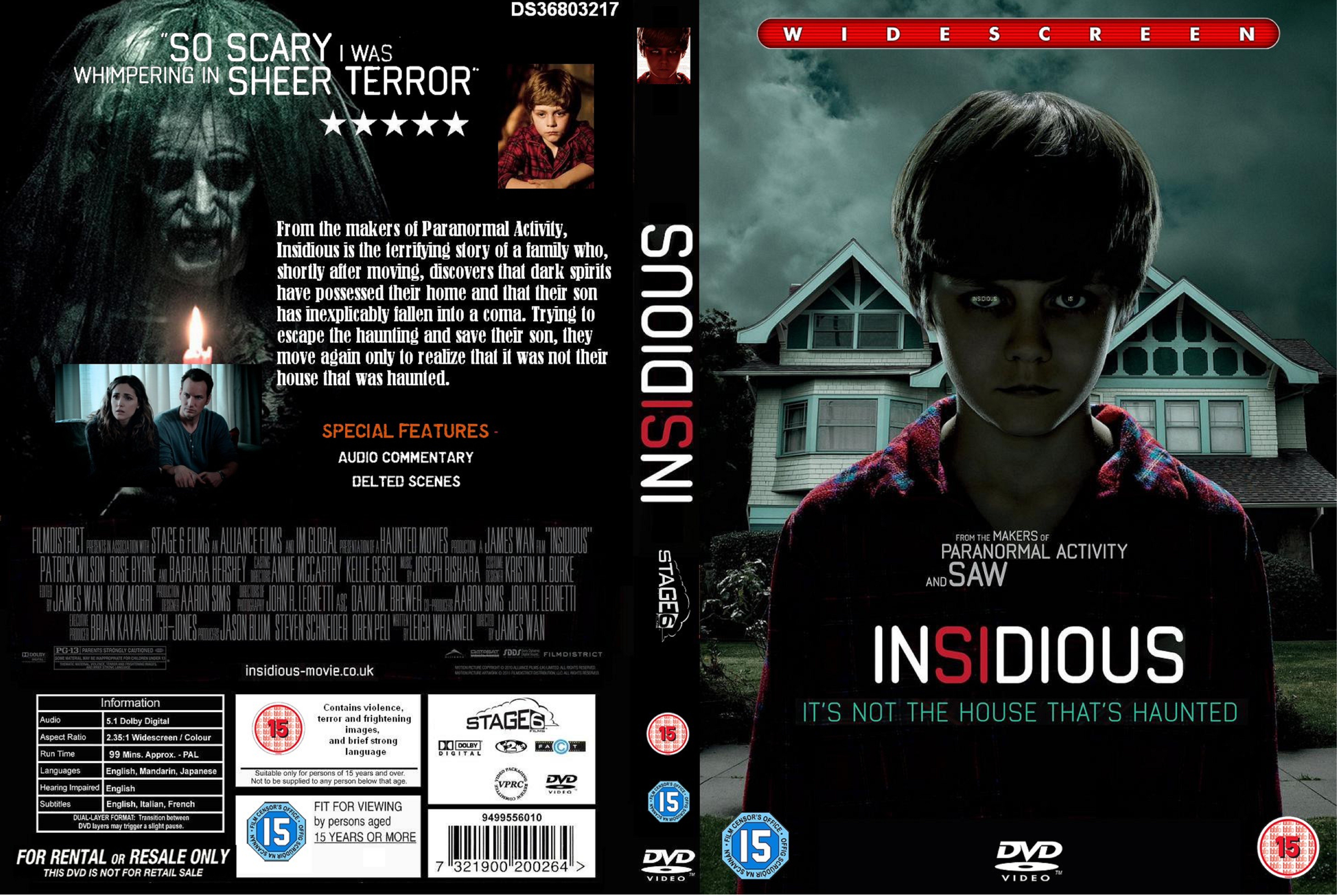 Insidious Cover Pictures to pin on Pinterest