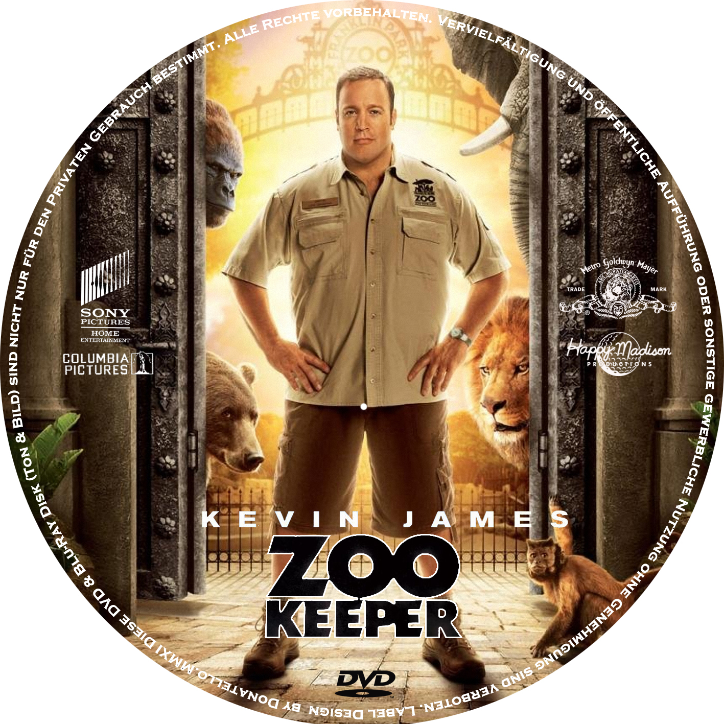 COVERS BOX SK ::: zookeeper (2011) - high quality DVD