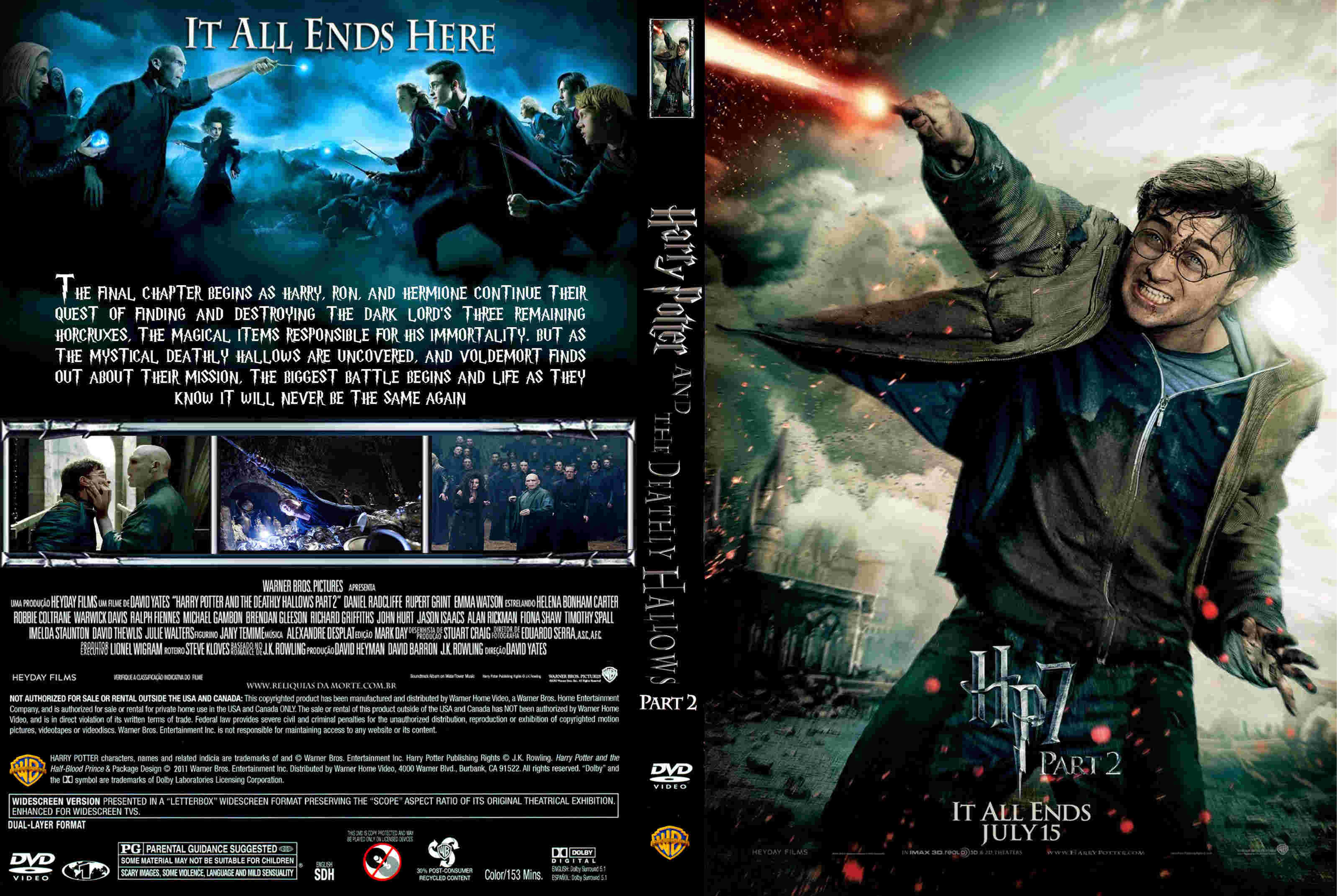Covers Box Sk Harry Potter And The Deathly Hallows Part 2 2011 High Quality Dvd Blueray Movie