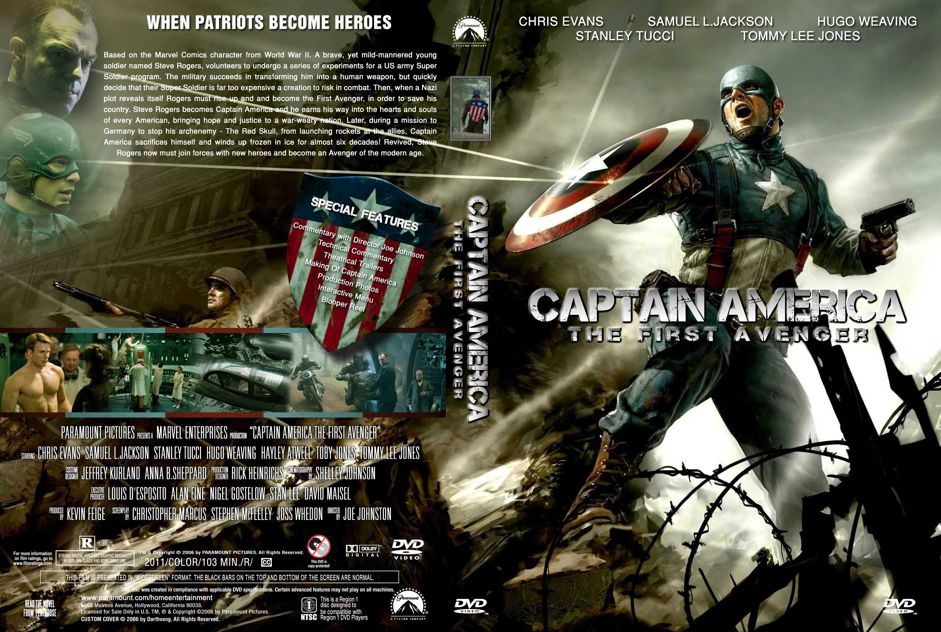 Captain america the first avenger 2011 - Captain America The First Avenger Dvd Cover