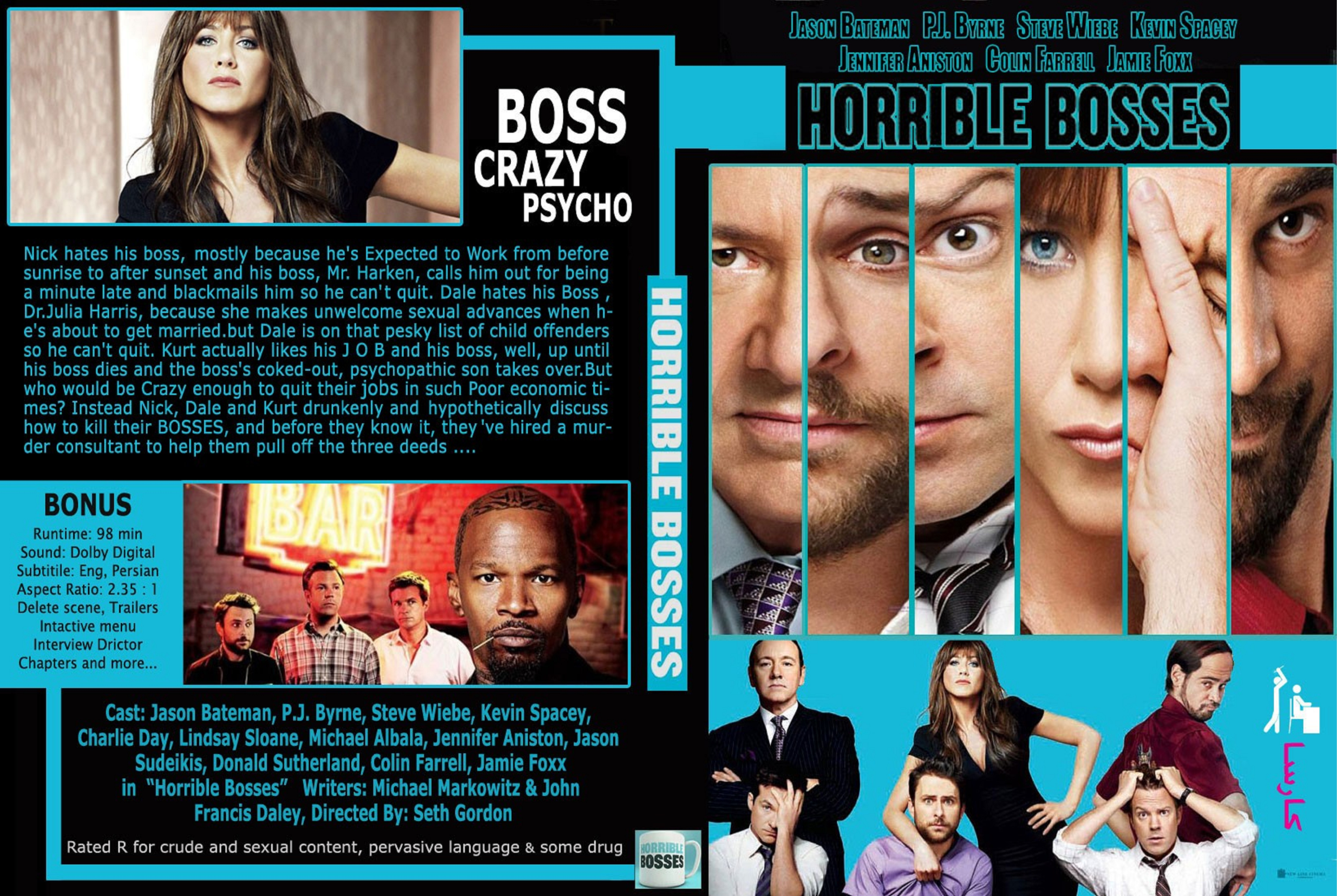 Covers Box Sk Horrible Bosses 2011 High Quality Dvd Blueray Movie
