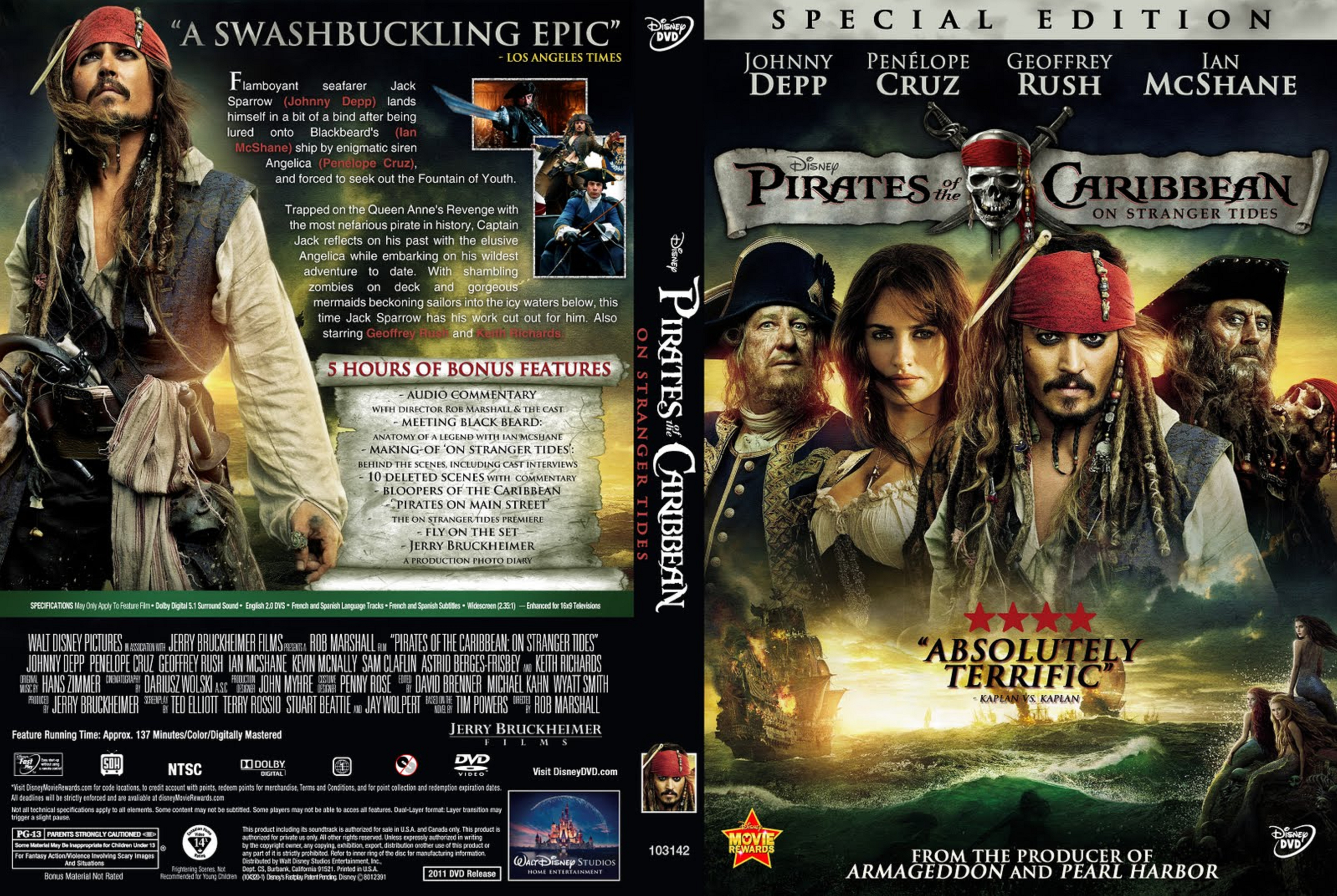 Covers Box Sk Pirates Of The Caribbean On Stranger Tides 2011 High Quality Dvd Blueray Movie
