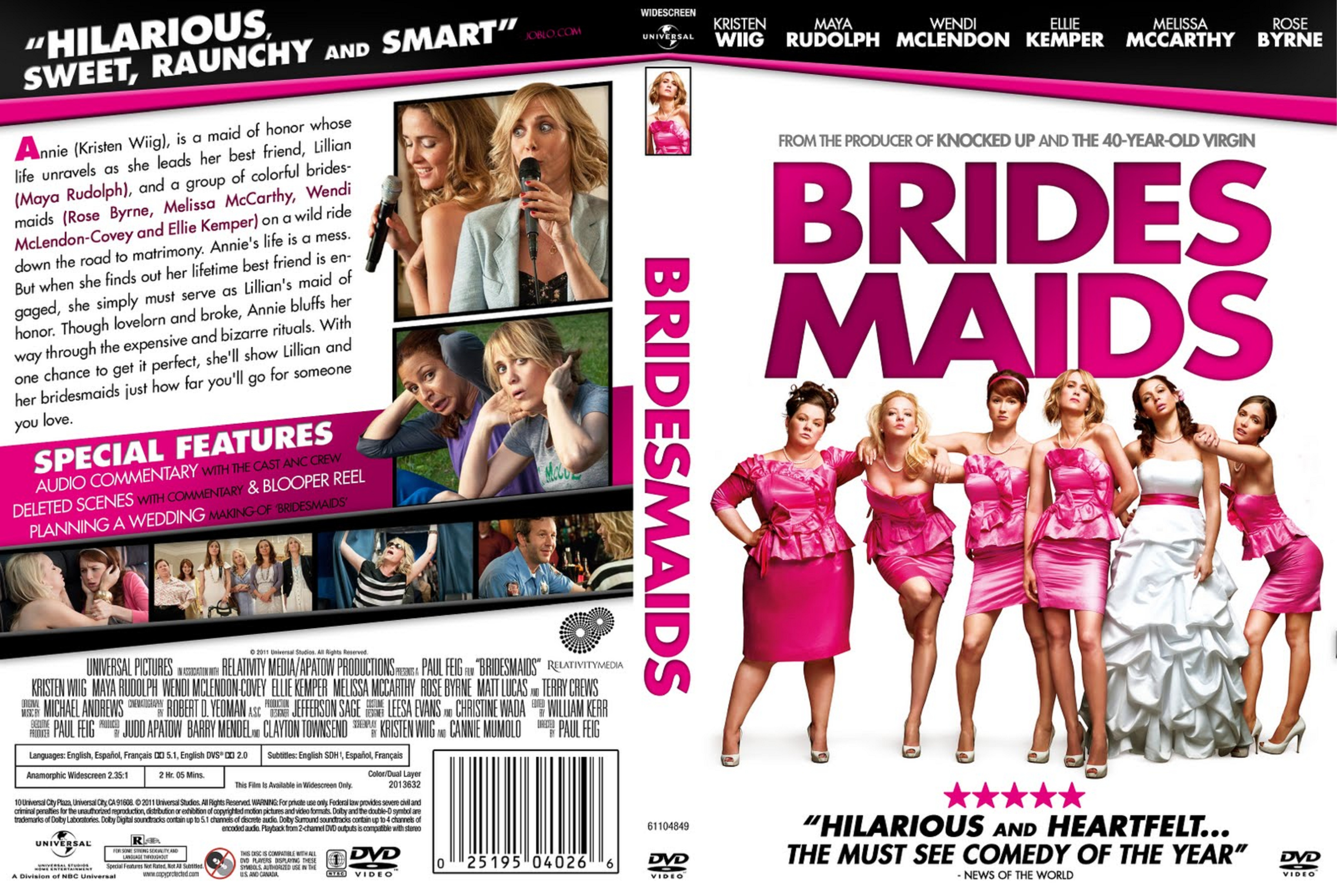 Covers Box Sk Bridesmaids 2011 High Quality Dvd Blueray Movie
