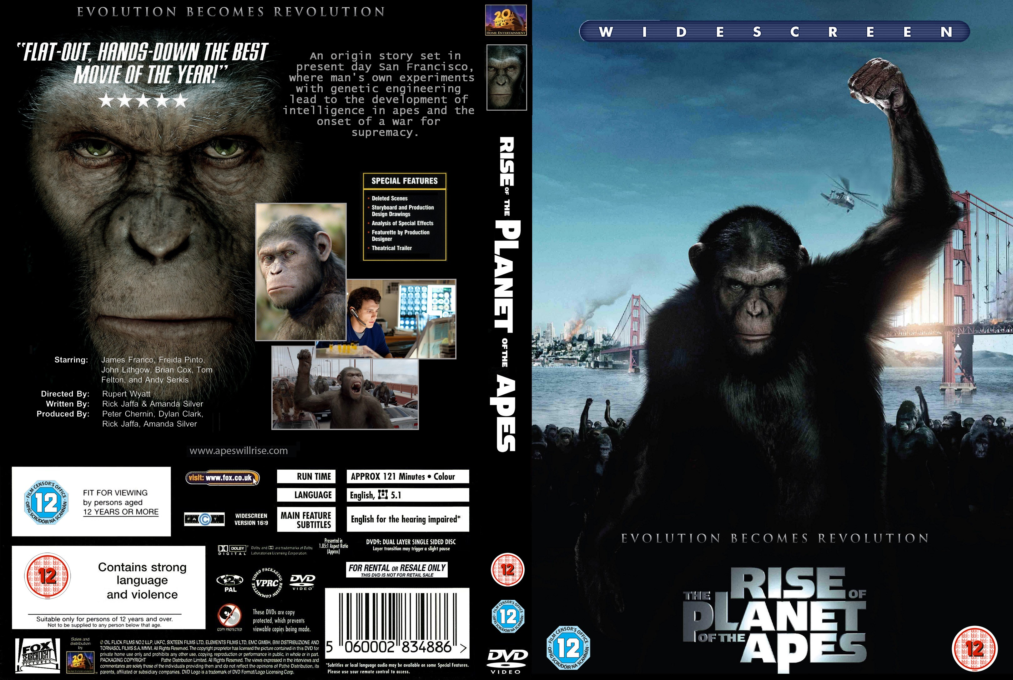 Covers Box Sk Rise Of The Planet Of The Apes 2011 High Quality Dvd Blueray Movie