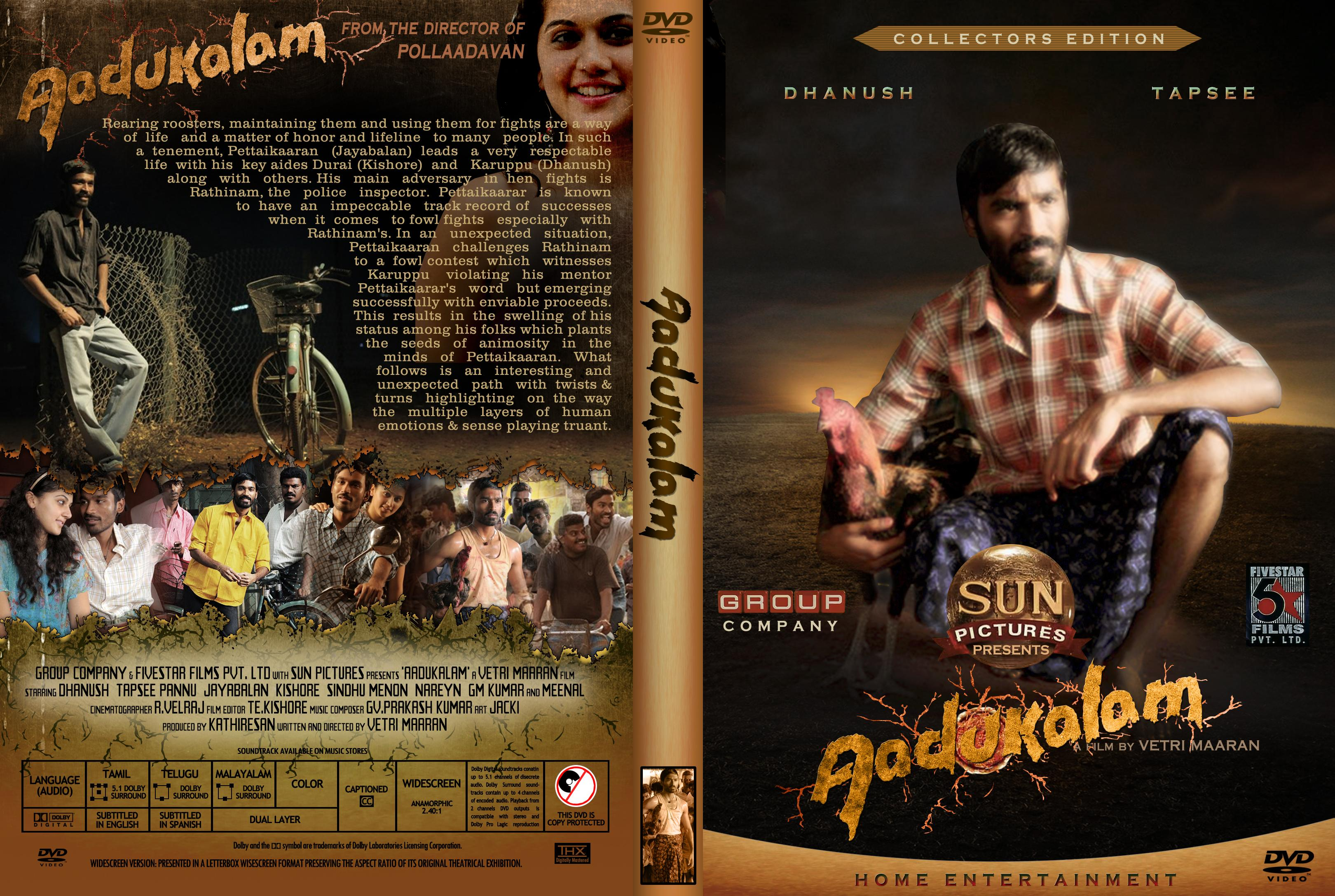 Covers Box Sk Aadukalam High Quality Dvd Blueray Movie