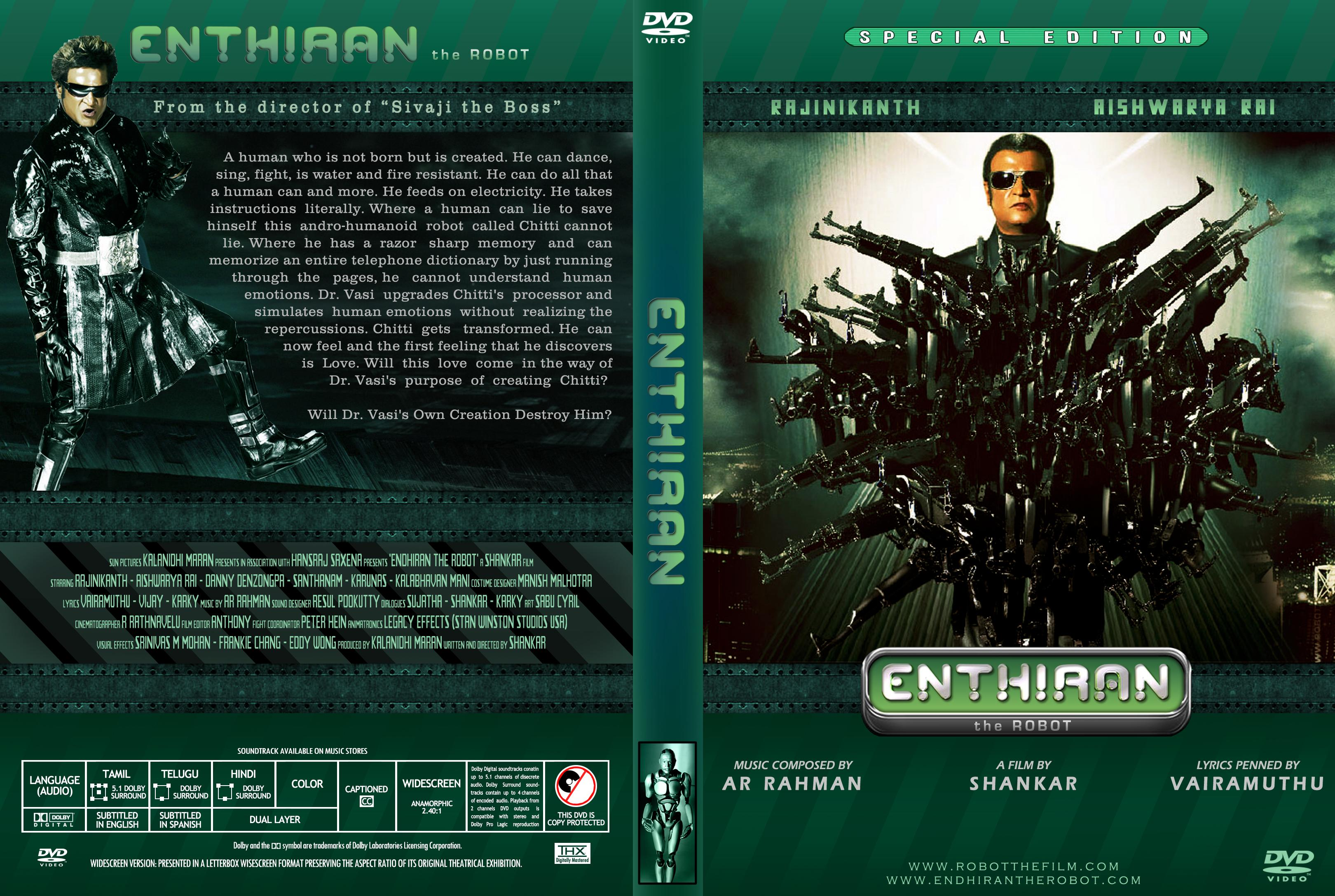 Endhiran robot movie wallpapers in jpg format for free download.