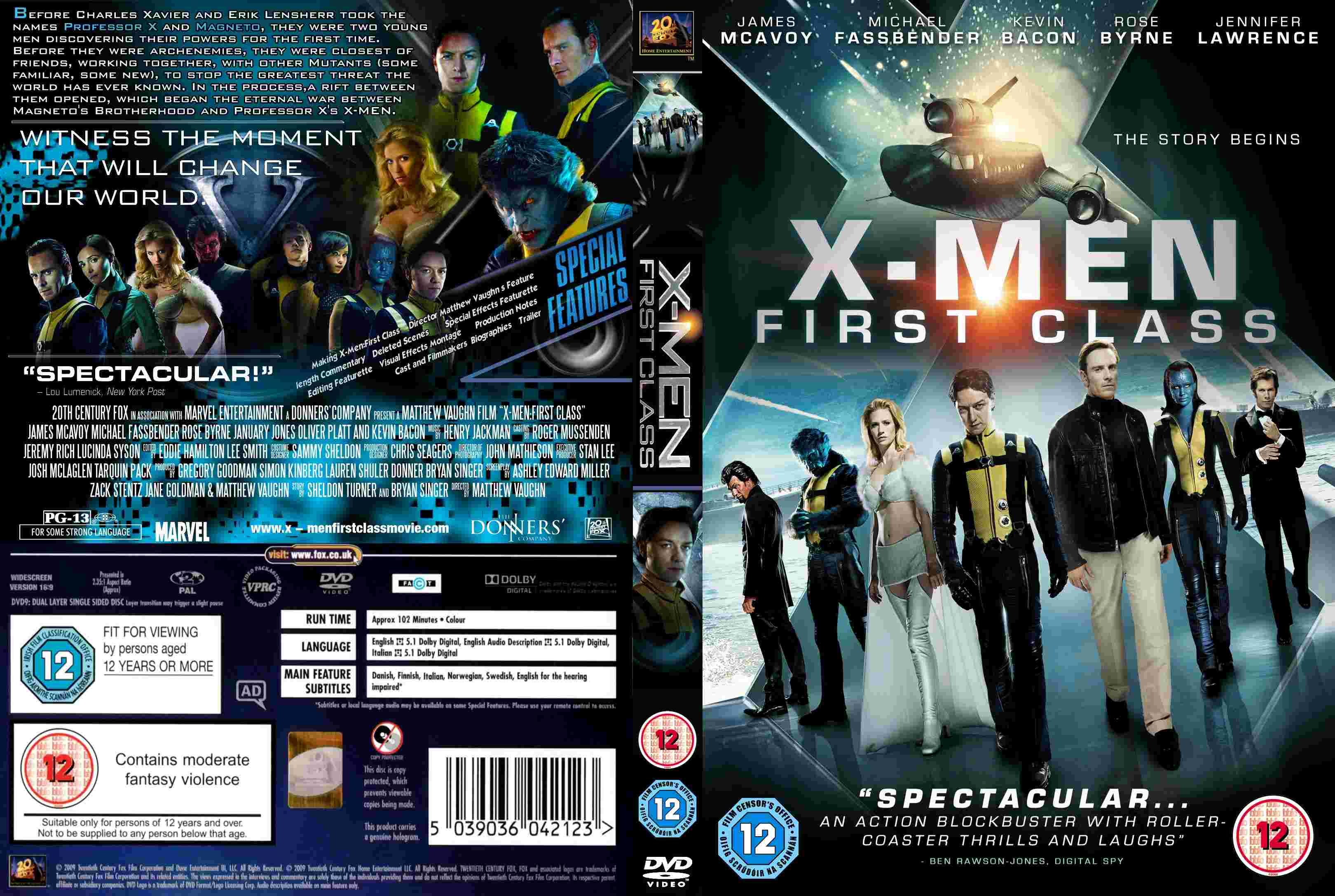X Men Dvd Cover: COVERS.BOX.SK ::: X-Men First Class