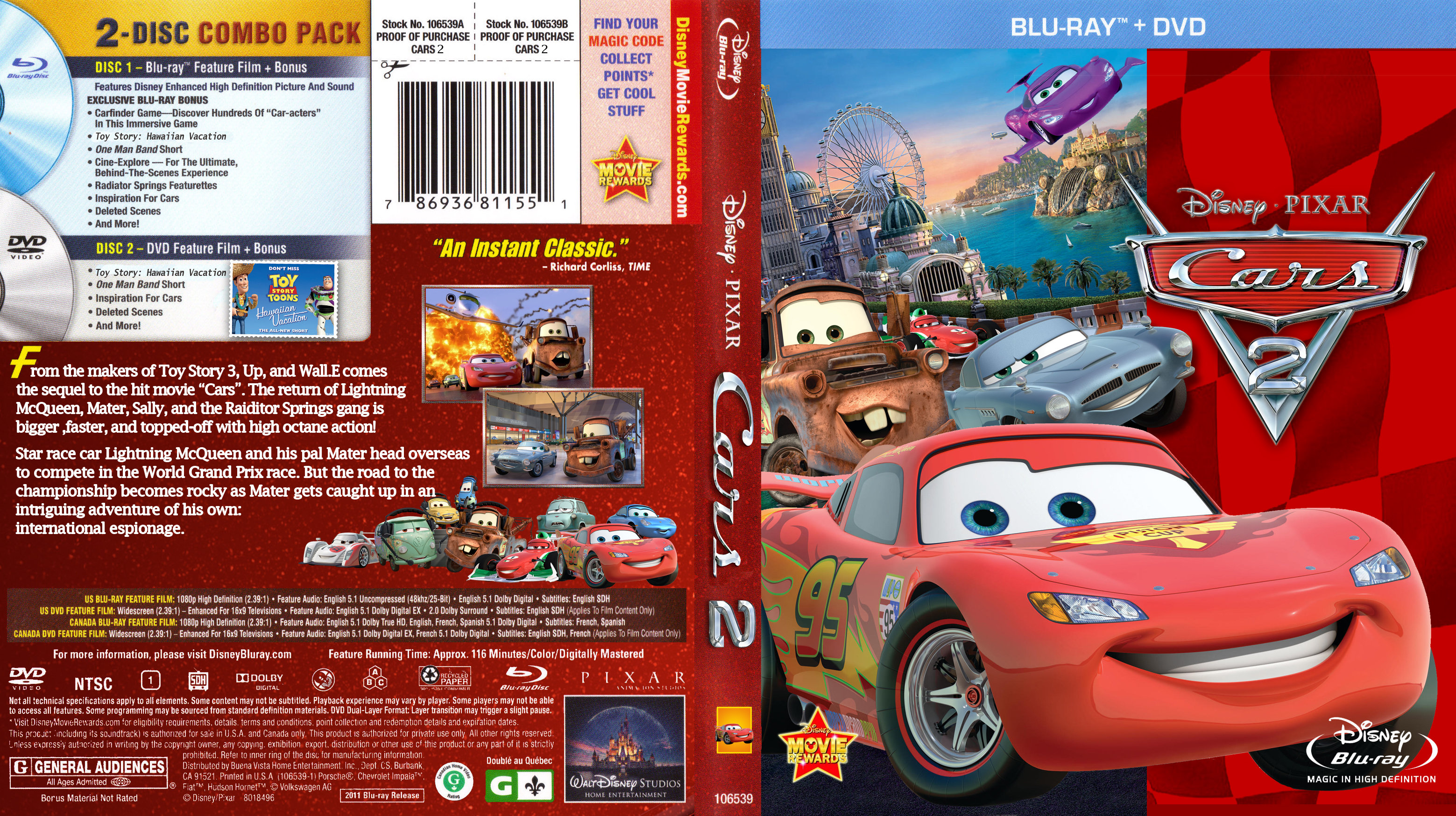 Covers Box Sk Cars 2 2011 High Quality Dvd Blueray Movie