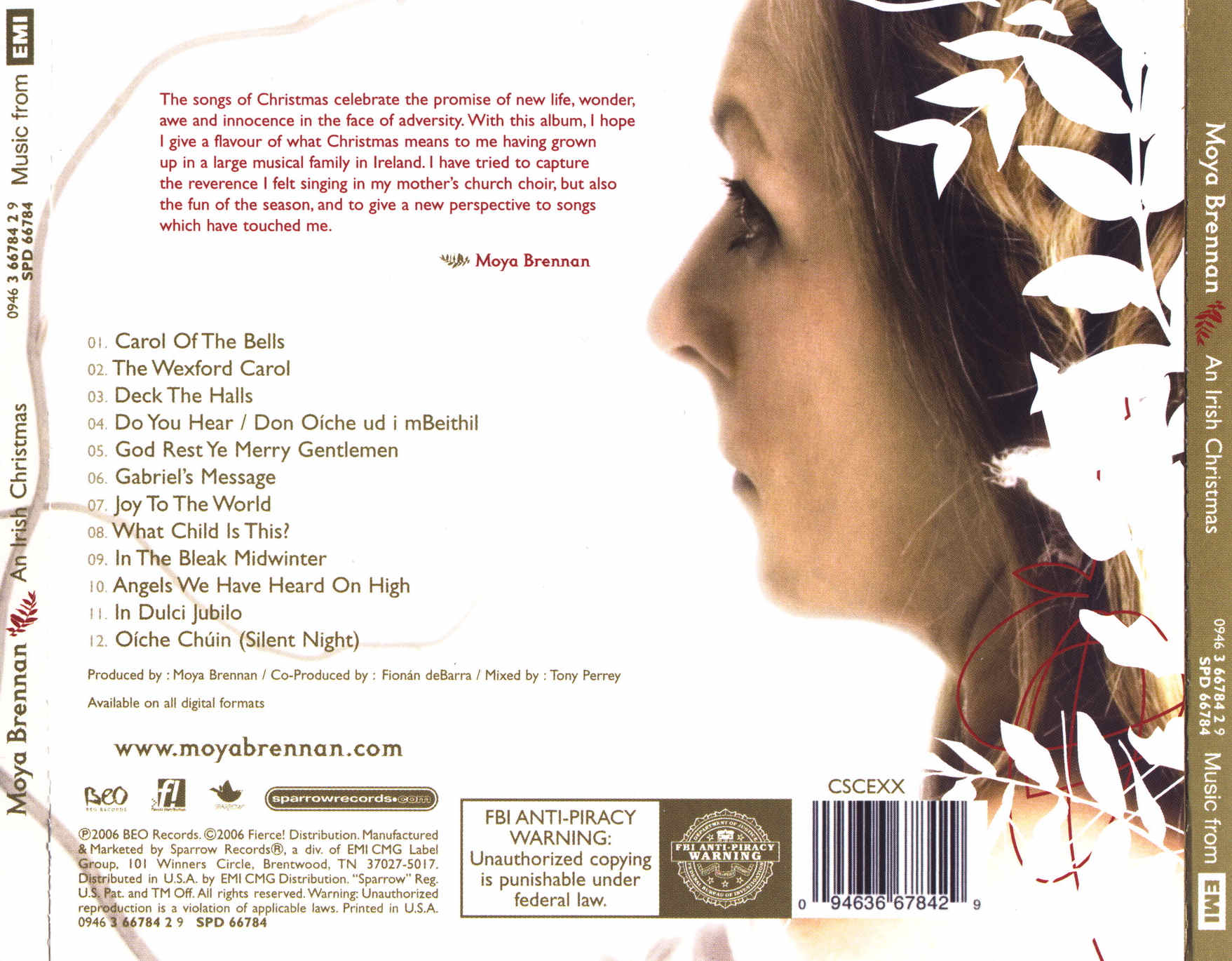 COVERS.BOX.SK ::: moya brennan - an irish christmas - high quality ...