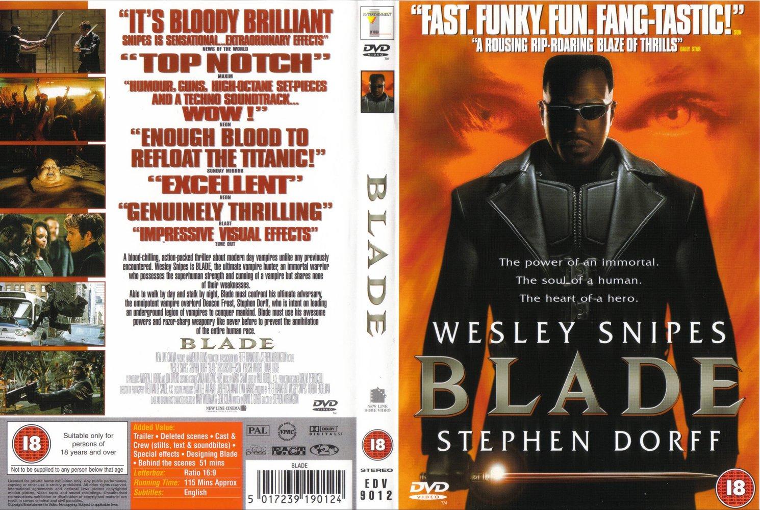 Blade Blu-Ray DVD Covers (1998) R2 german