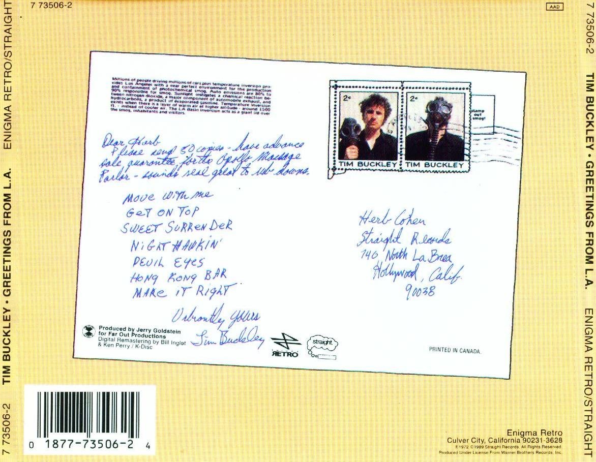Coversx tim buckley greetings from la high quality cover has been resized m4hsunfo