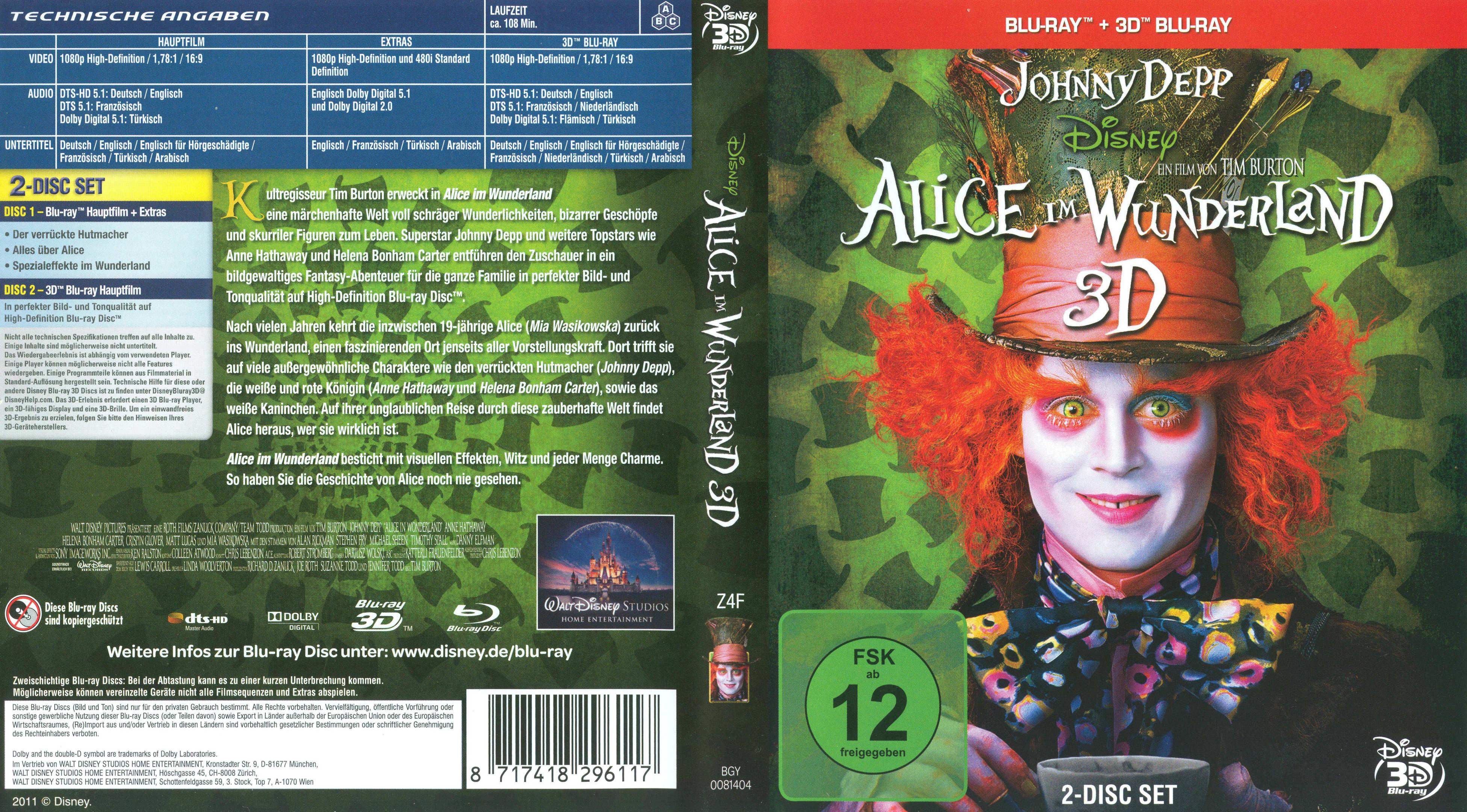 COVERS.BOX.SK ::: Alice Im Wunderland (3d)