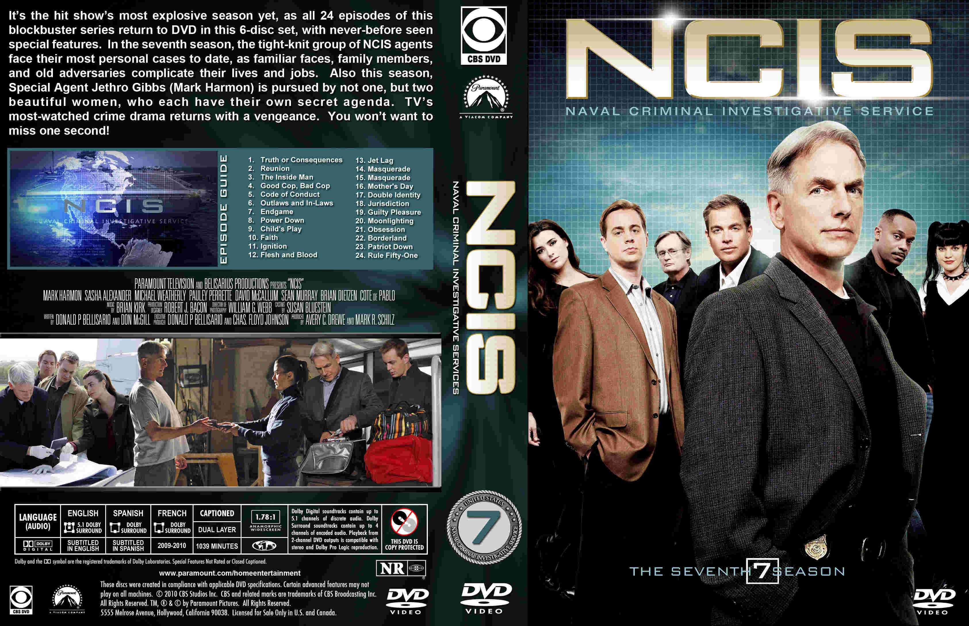 Covers Box Sk Ncis Season 7 High Quality Dvd Blueray Movie