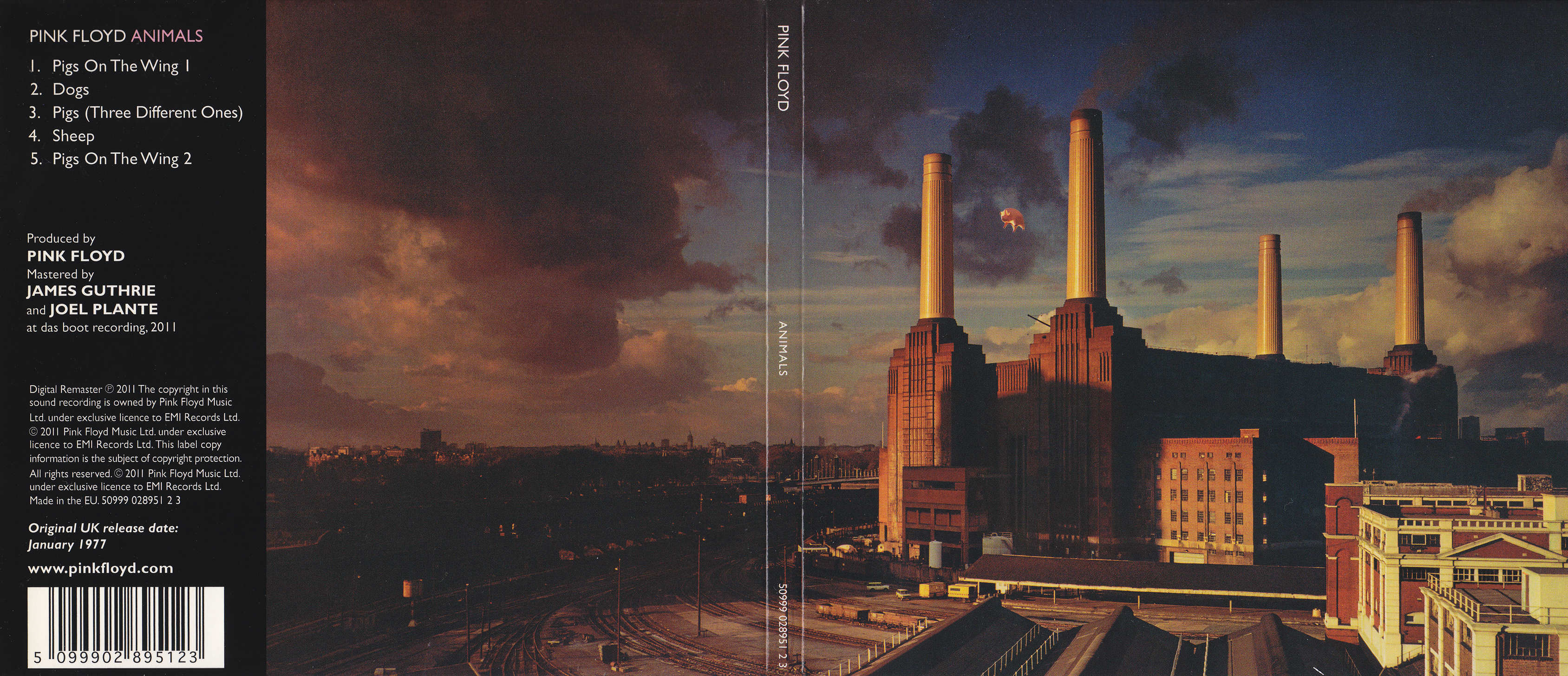 Covers Box Sk Pink Floyd Animals High Quality Dvd