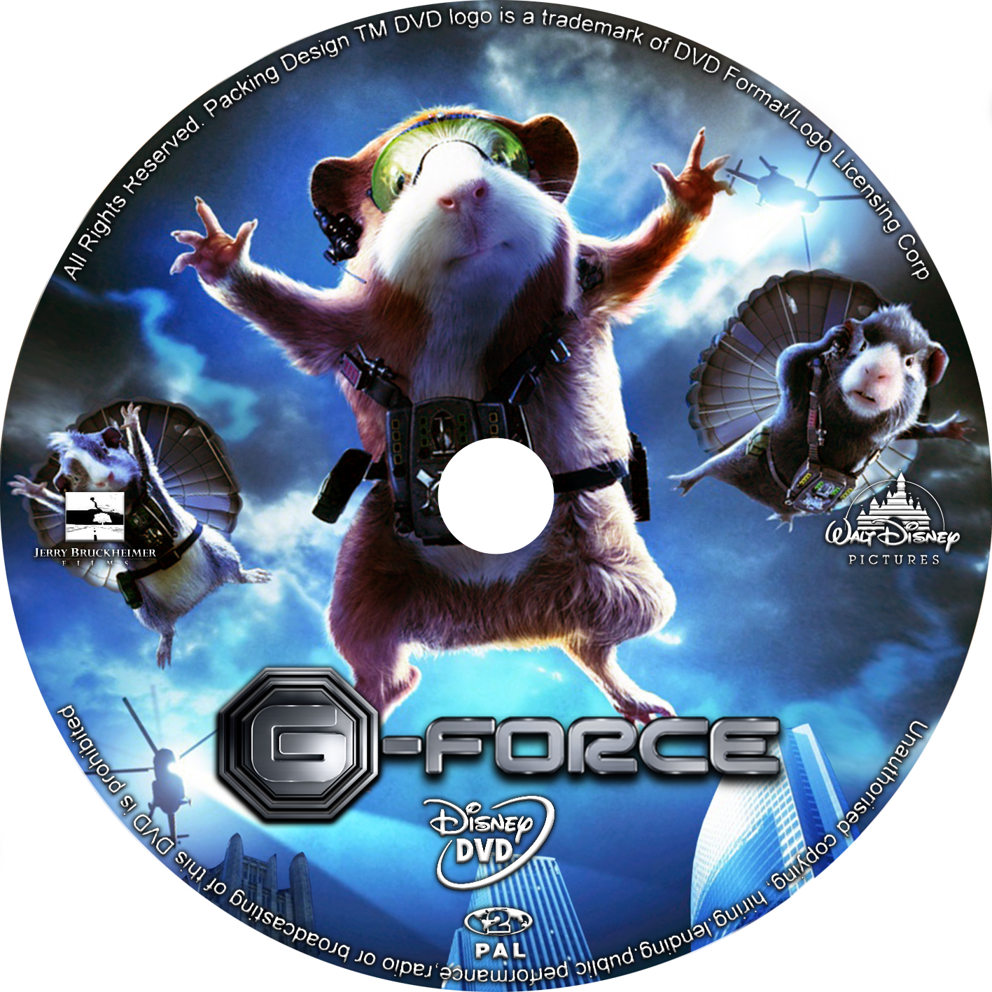 Covers Box Sk G Force 2009 High Quality Dvd Blueray Movie
