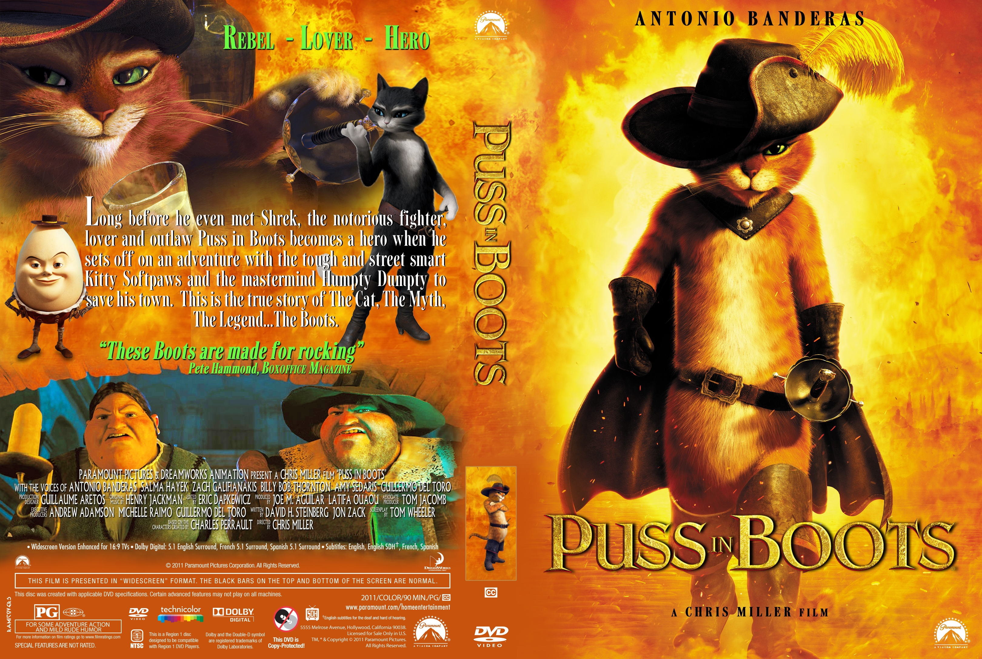 Covers Box Sk Puss In Boots 2011 High Quality Dvd Blueray Movie