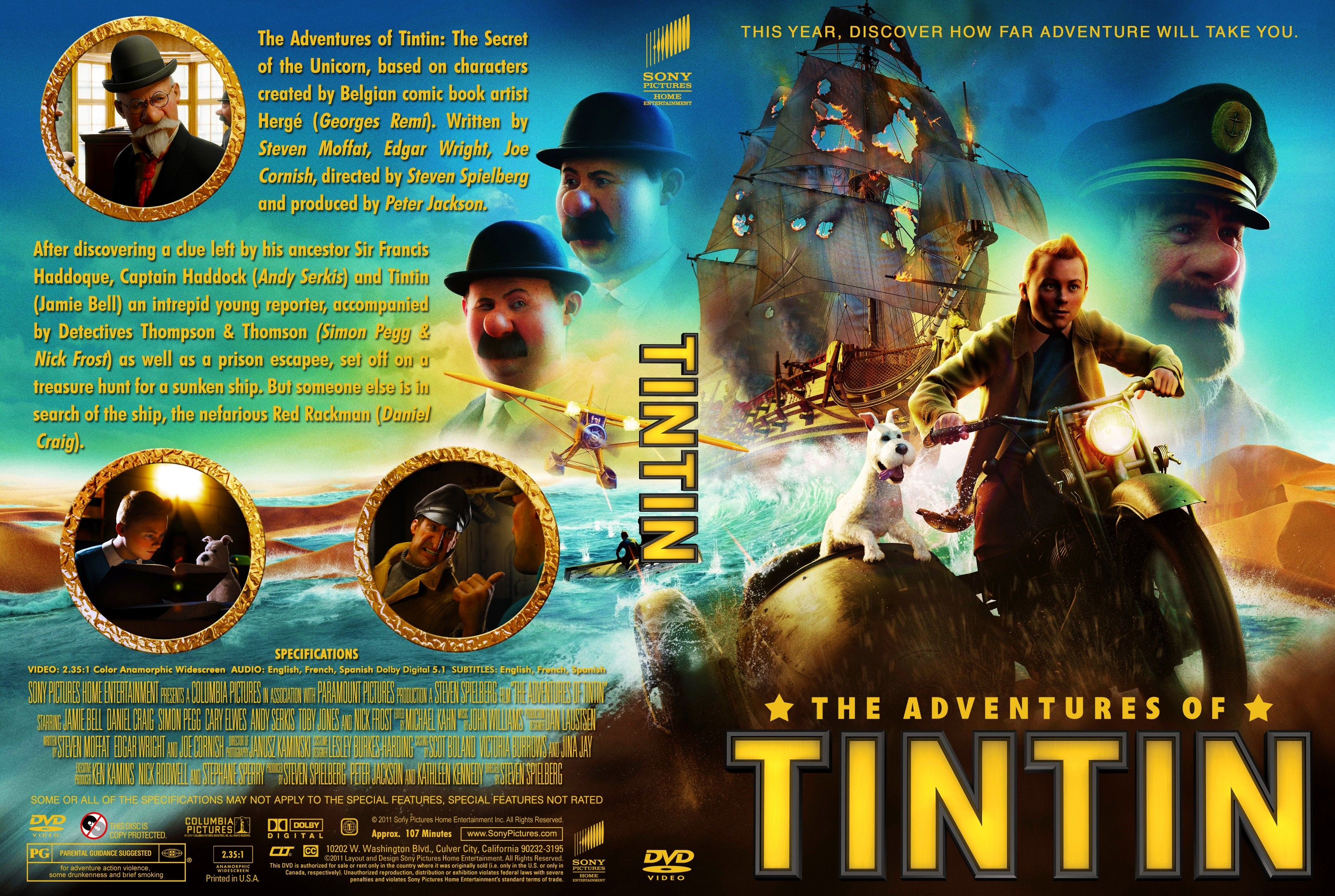covers.box.sk ::: the adventures of tintin 2011 - high quality dvd