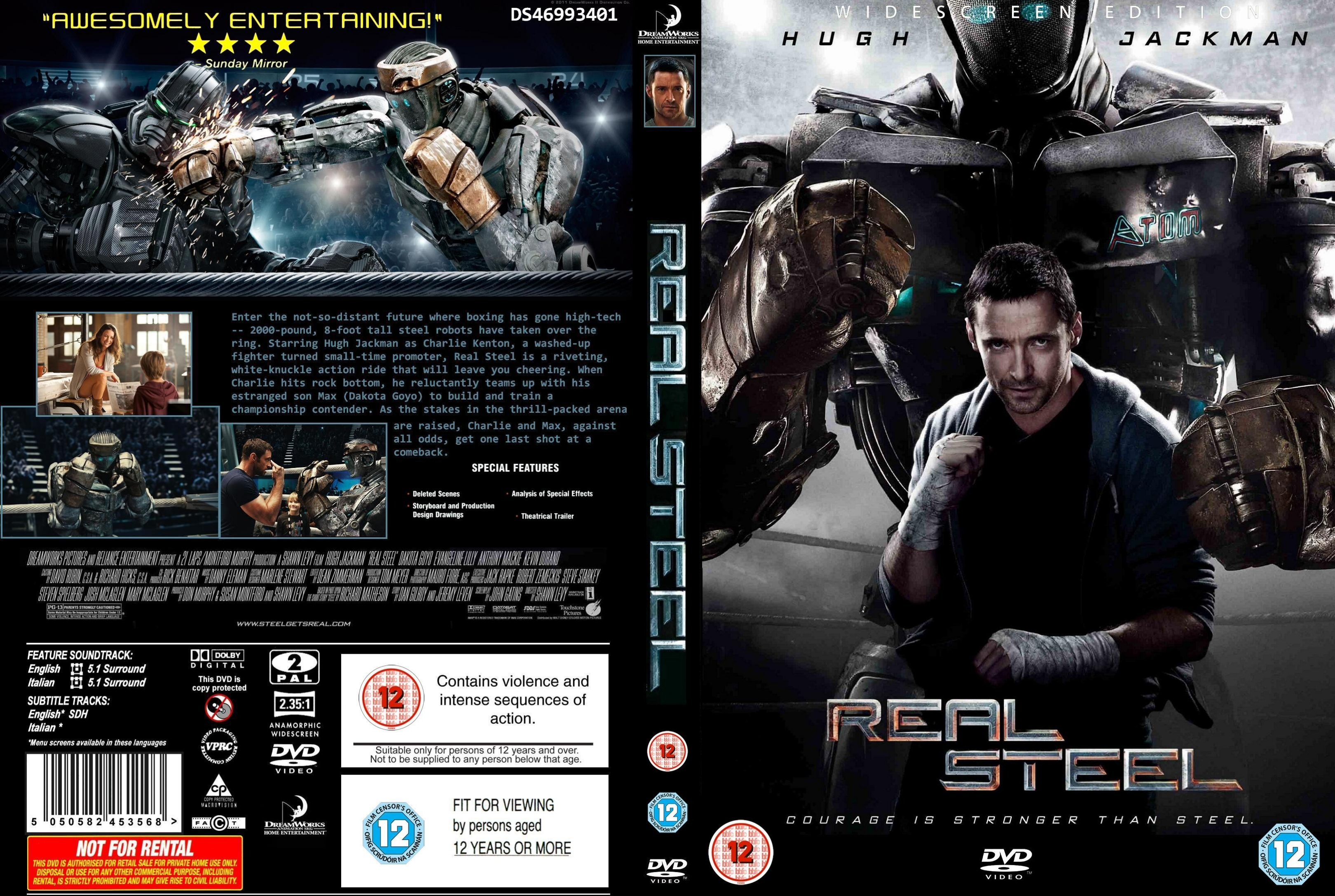 Covers Box Sk Real Steel 2011 High Quality Dvd Blueray Movie