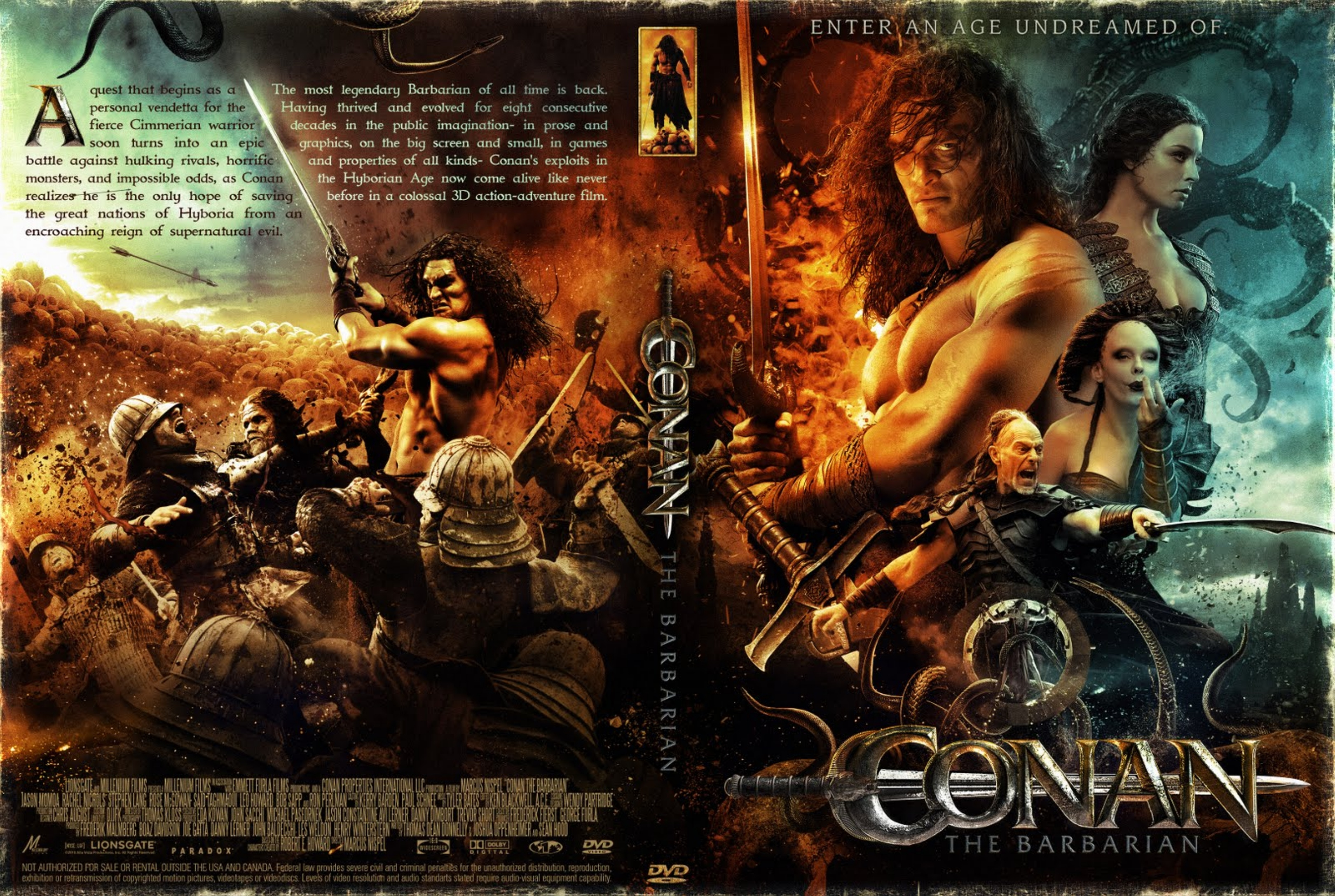 Conan 2011 Great covers.box.sk ::: conan the barbarian (2011) - high quality dvd