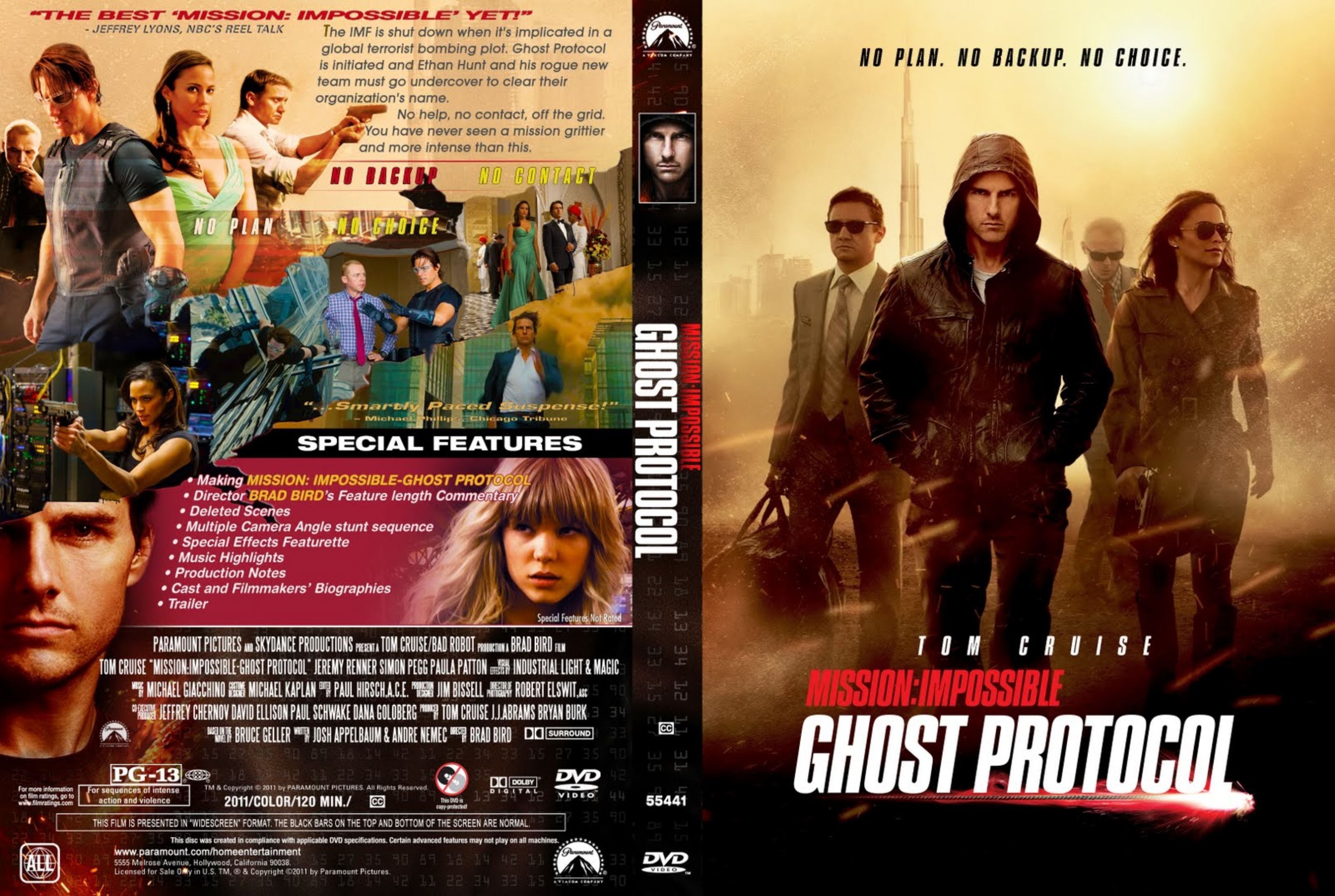 COVERS.BOX.SK ::: mission impossible ghost protocol (2011) - high quality DVD / Blueray / Movie